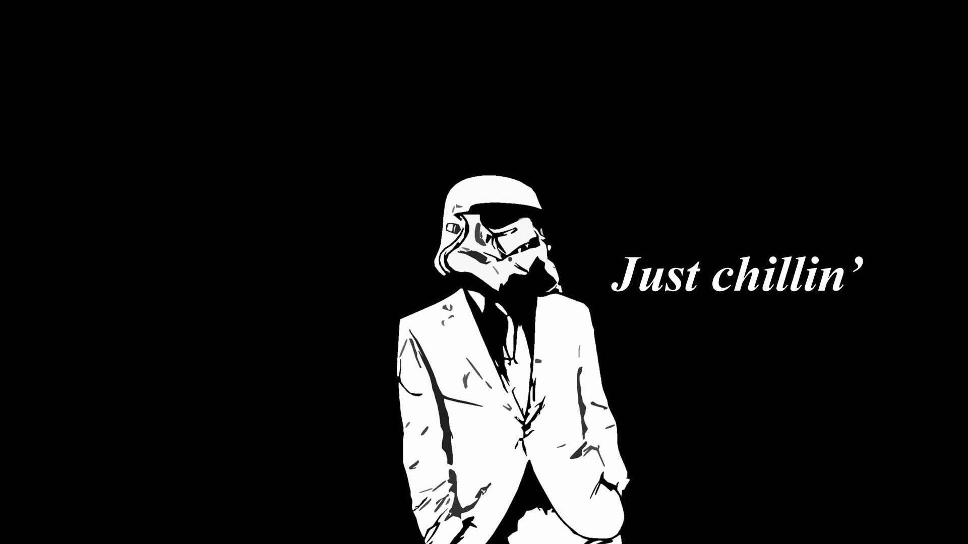 Res: 1920x1080,  Just chillin Stormtrooper wallpaper Wide or HD   Funny Wallpapers
