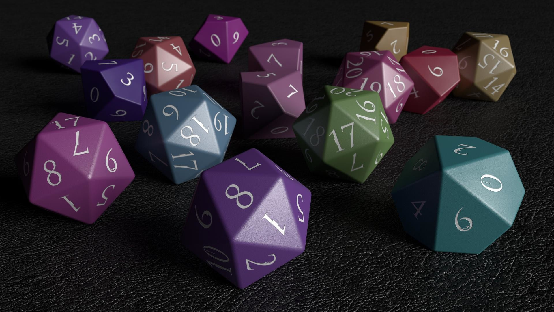 Res: 1920x1080, I made some RPG Dice [1920 x 1080} ...