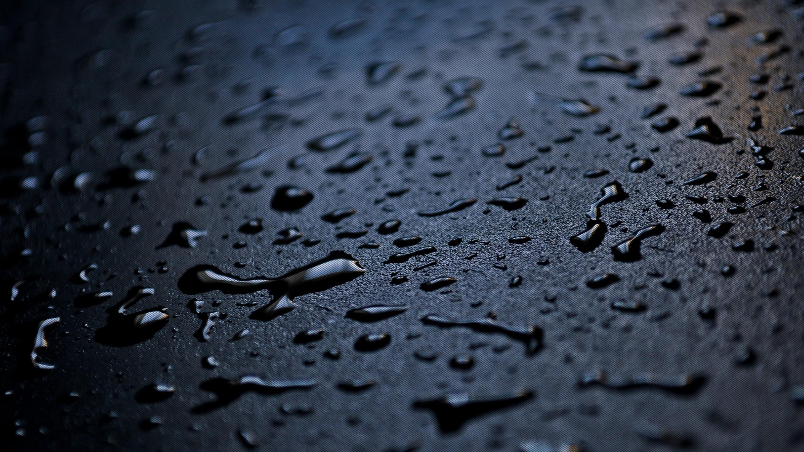 Res: 2560x1440, Rain Drops Wallpapers