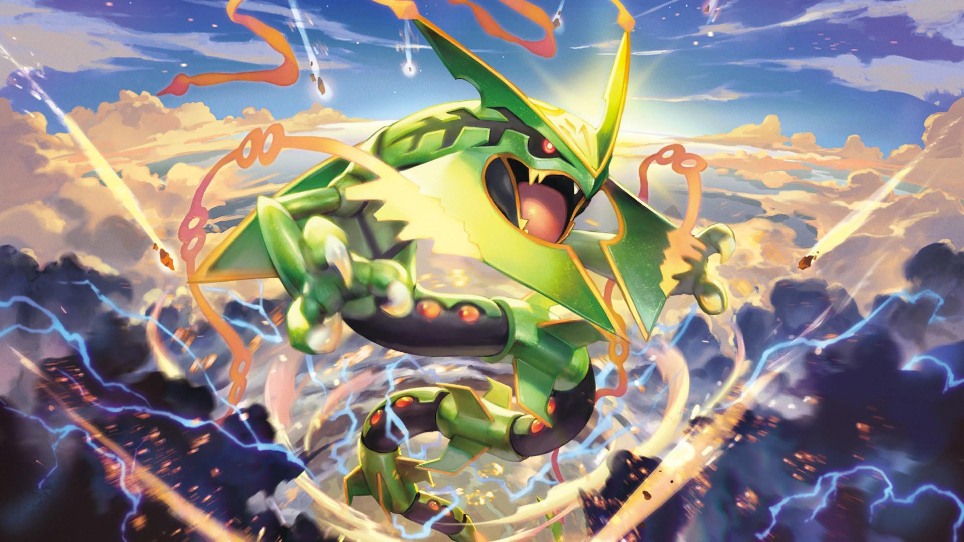 Res: 1920x1080, Anime - Pokémon Mega Rayquaza (Pokémon) Legendary Pokémon Wallpaper