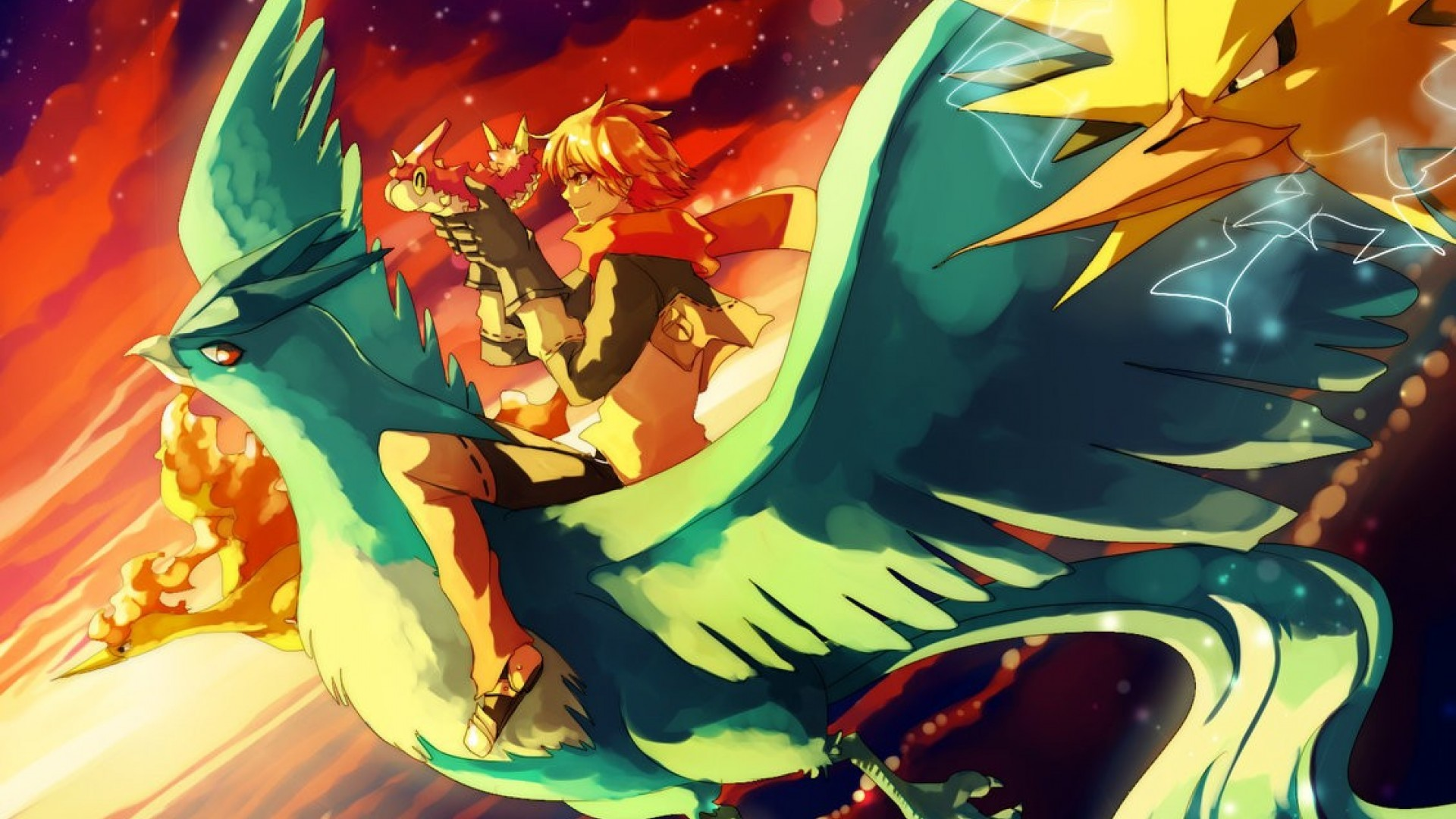 Res: 1920x1080, Pokemon Legendary Birds wallpaper 1421425