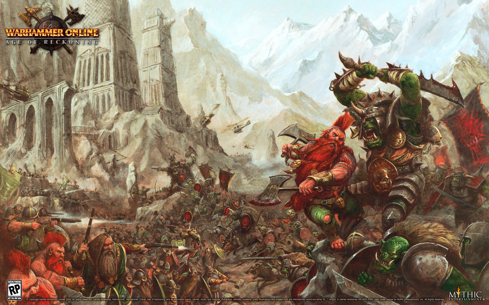 Res: 1920x1200, Video Game - Warhammer Dwarf Orc Weapon Warhammer Online: Age Of Reckoning  Wallpaper