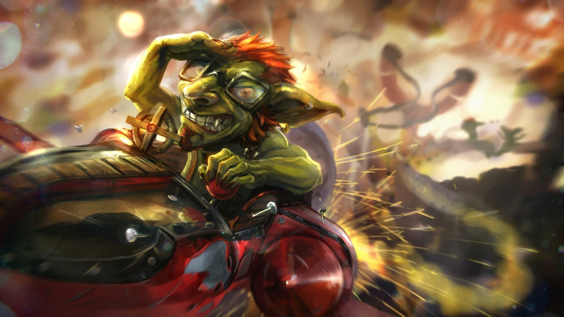 Res: 1920x1080,  Preview wallpaper hearthstone, hearthstone heroes of warcraft,  catapult, goblin, dwarf