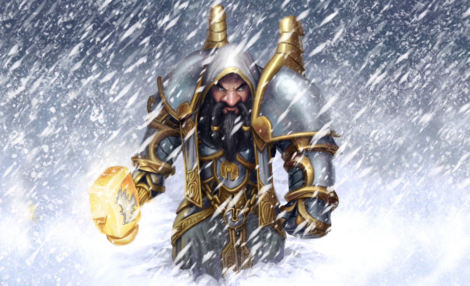 Res: 1920x1170, World of Warcraft Dwarf Fighter Snow Wallpapers