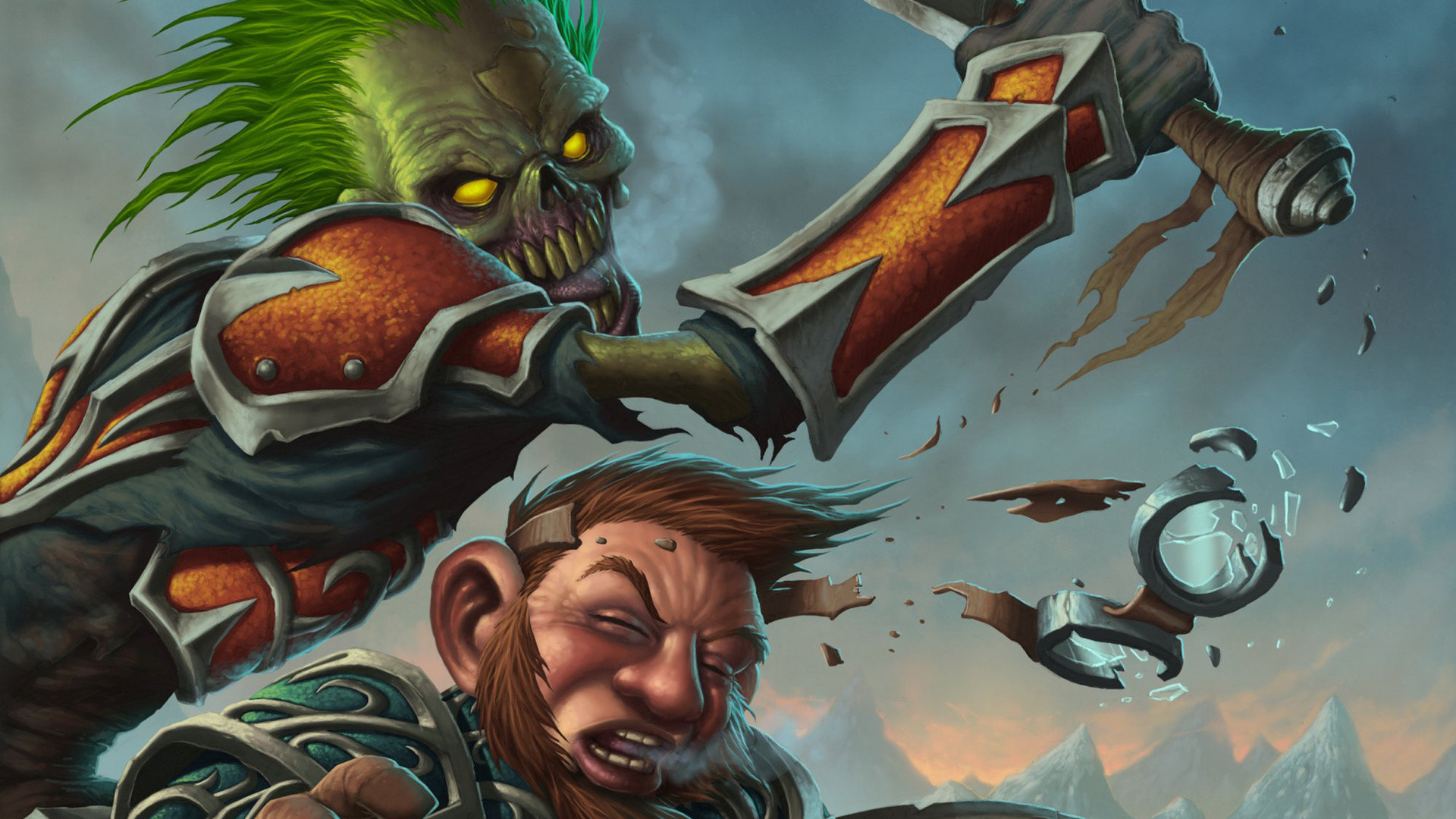 Res: 1920x1080, Killer, Blow, Wow, Fight, Fight, Undead, Dwarf, World Of