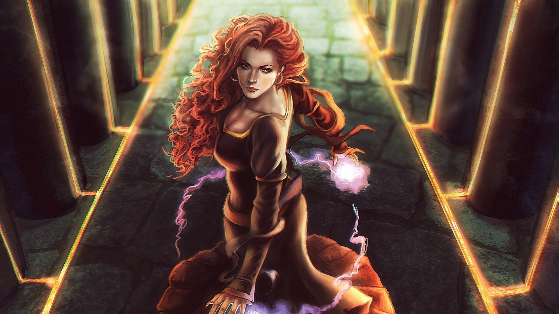 Res: 1920x1080, Download now full hd wallpaper triss merigold red head luxury spell  beautiful ...