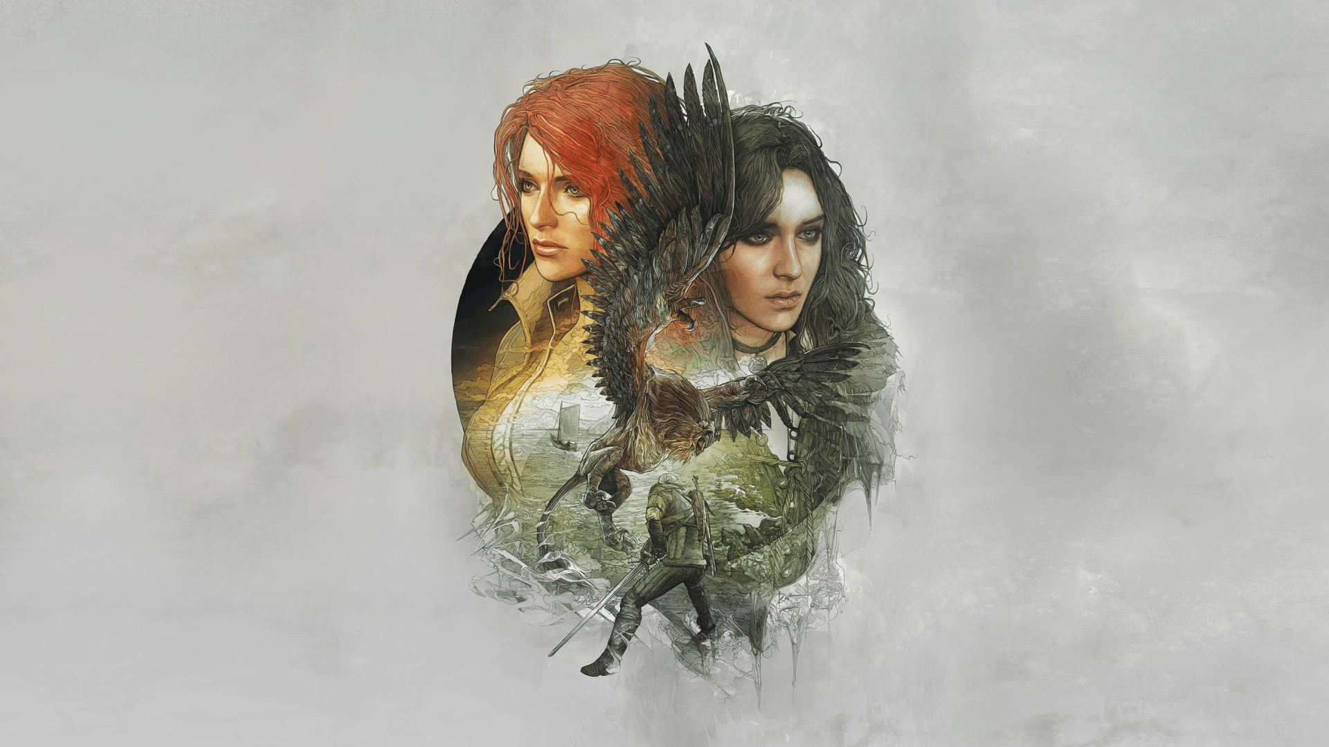 Res: 1920x1080, Yennefer Triss Merigold The Witcher 3: Wild Hunt The Witcher 1080p HD  Wallpaper Background