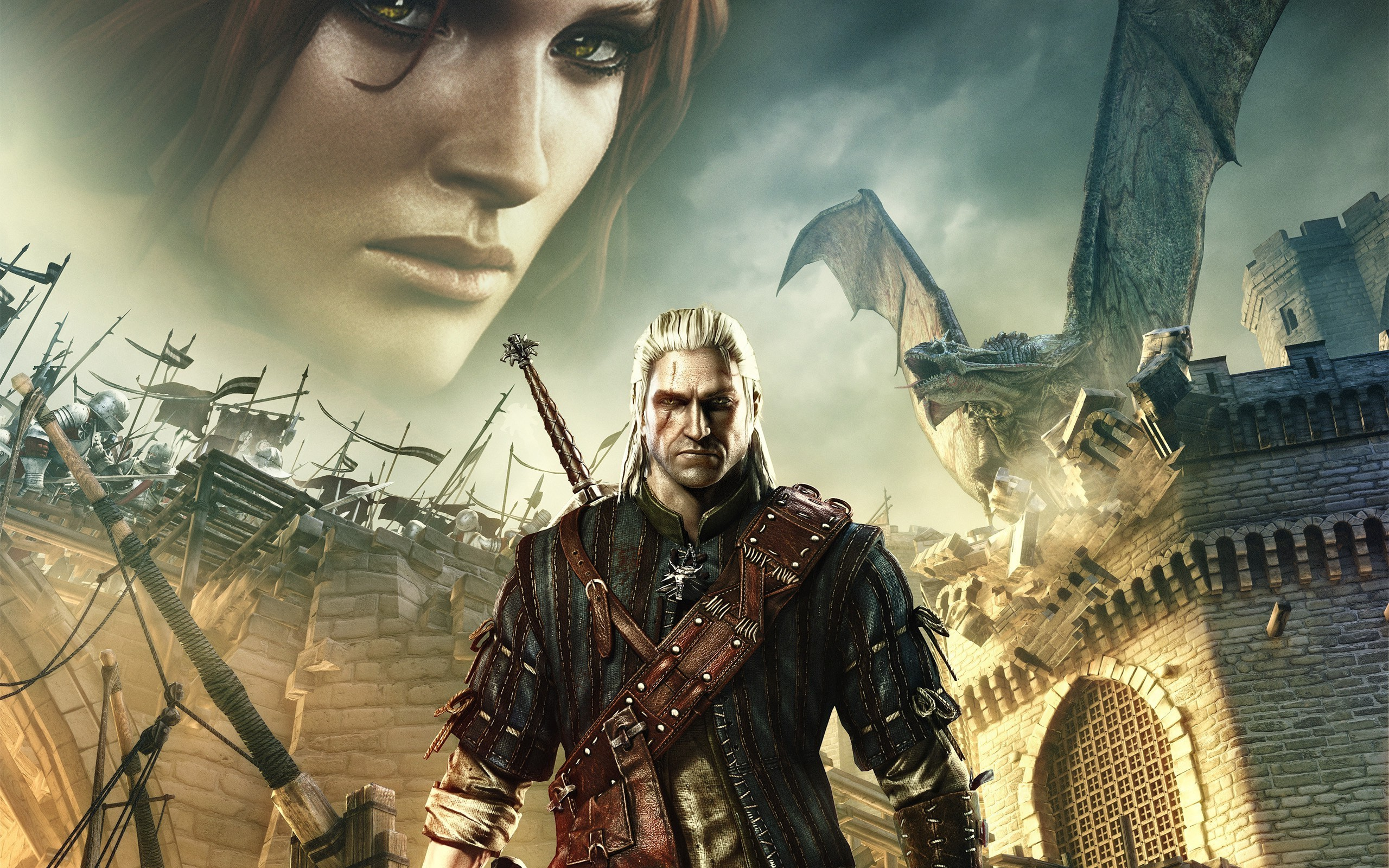 Res: 2560x1600, the witcher 2 assassins of kings the witcher triss merigold geralt of rivia  wallpaper and background
