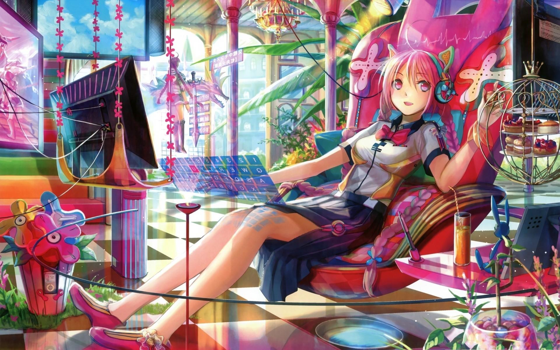 Res: 1920x1200, Techno Anime