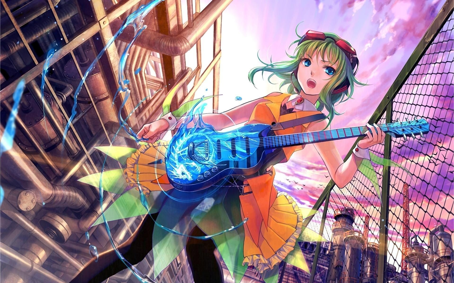 Res: 1920x1200, Anime Girl Guitar HD Wallpaper - ZoomWalls