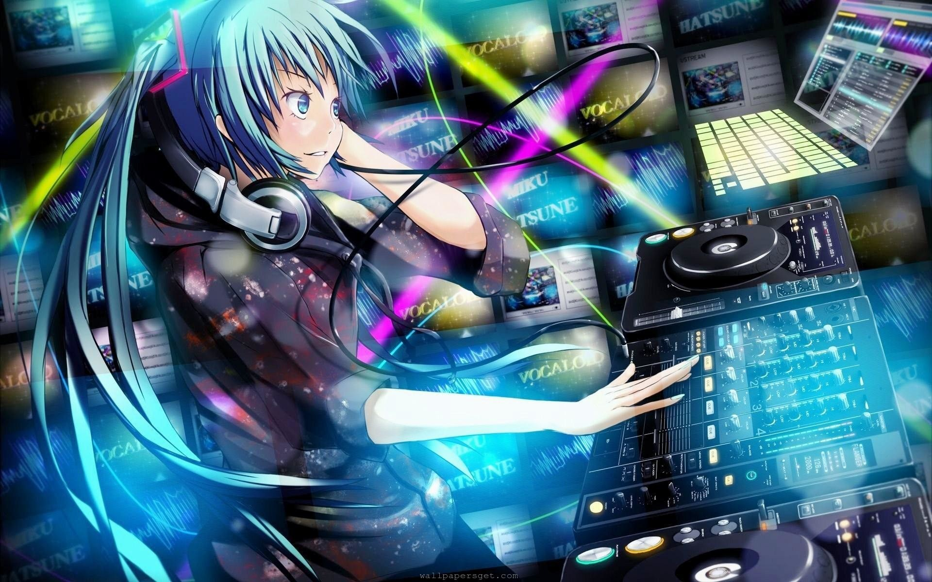 Res: 1920x1200,  wallpaper.wiki-Anime-DJ-Music-Wallpaper-Picture-PIC