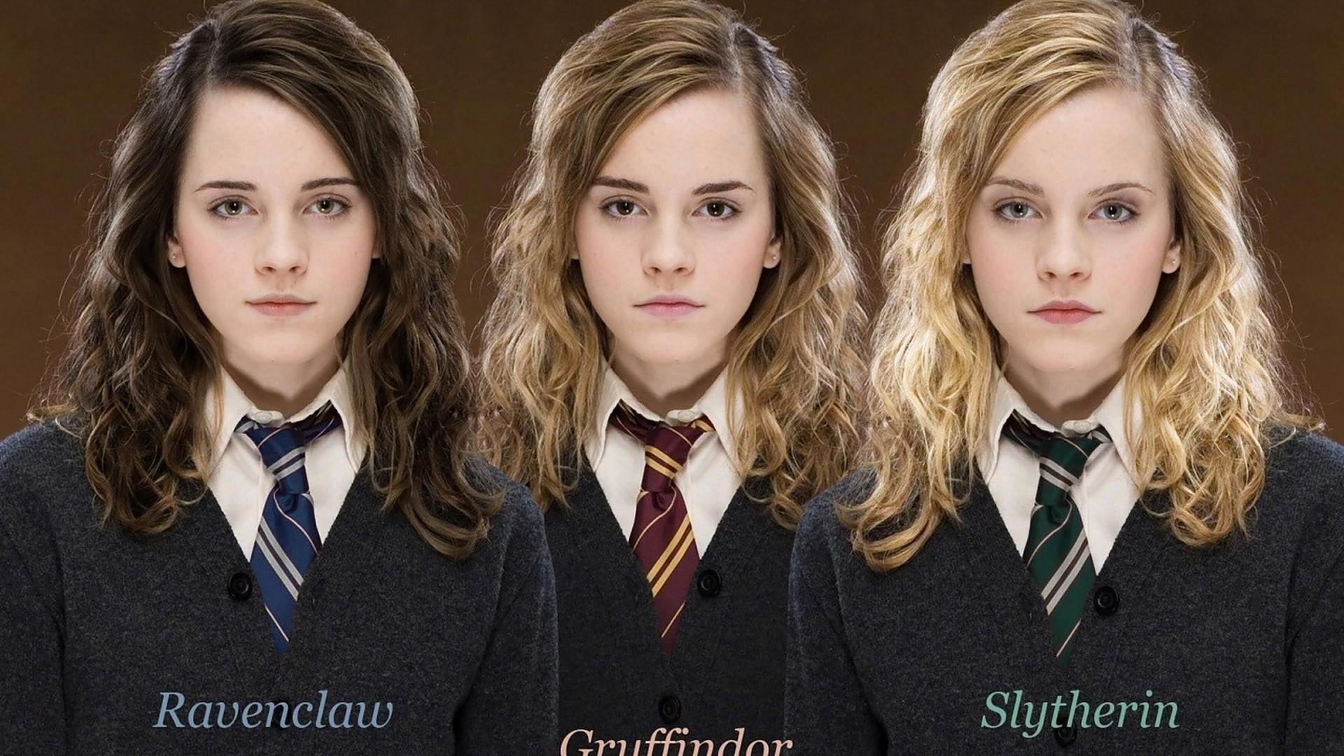 Res: 1920x1080, Ravenclaw, Gryffindor, Emma, Slytherin, Hogwarts, Faculties