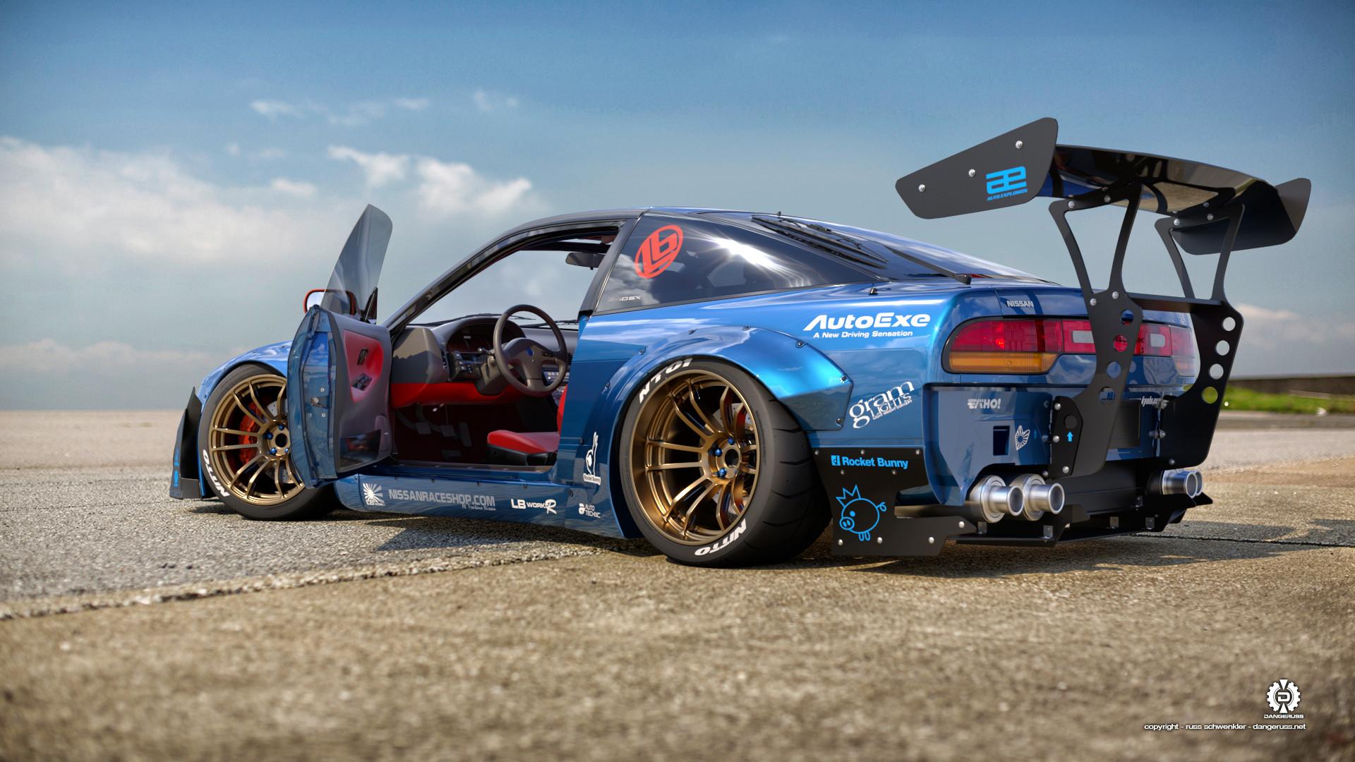 Res: 1920x1080, Fahrzeuge - Nissan 240SX Nissan Autos Fahrzeug Rennauto Blue Car Wallpaper