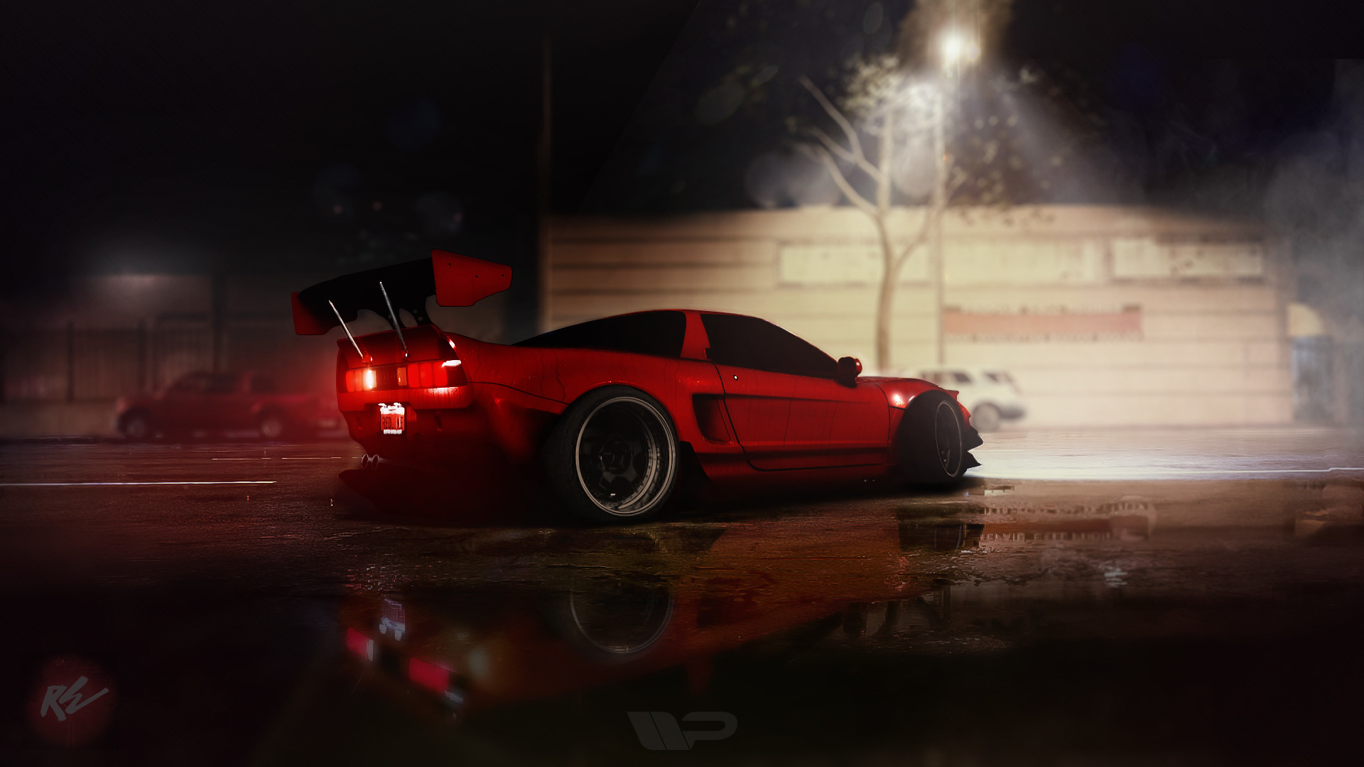 Res: 1920x1080, Honda NSX coated in Tra-Kyoto Rocket Bunny widebody kit