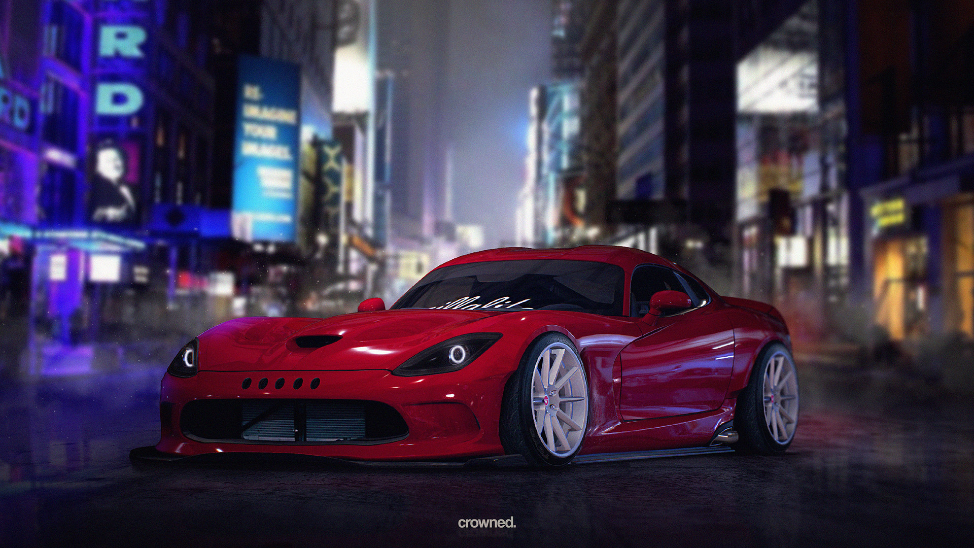 Res: 1920x1080, Rocket Bunny Dodge Viper (NFS 2015 + Photoshop / Virtual Tuning / Speed Art)