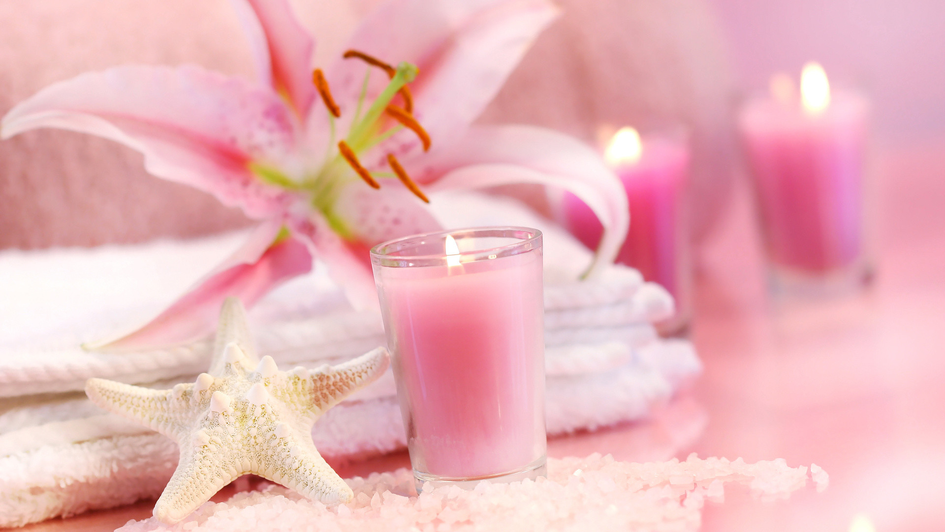 Res: 1920x1080, Spa, The Rest, Towel, Candle, Relax, Beauty Salon
