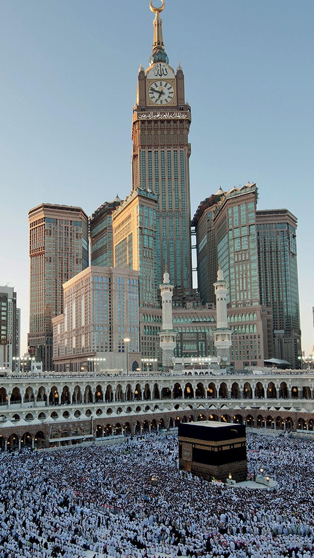 Res: 1080x1920, Download Makkah Clock Royal Tower 1080 x 1920 Wallpapers - 4528727 -  Islamic Mekkah Tower | mobile9