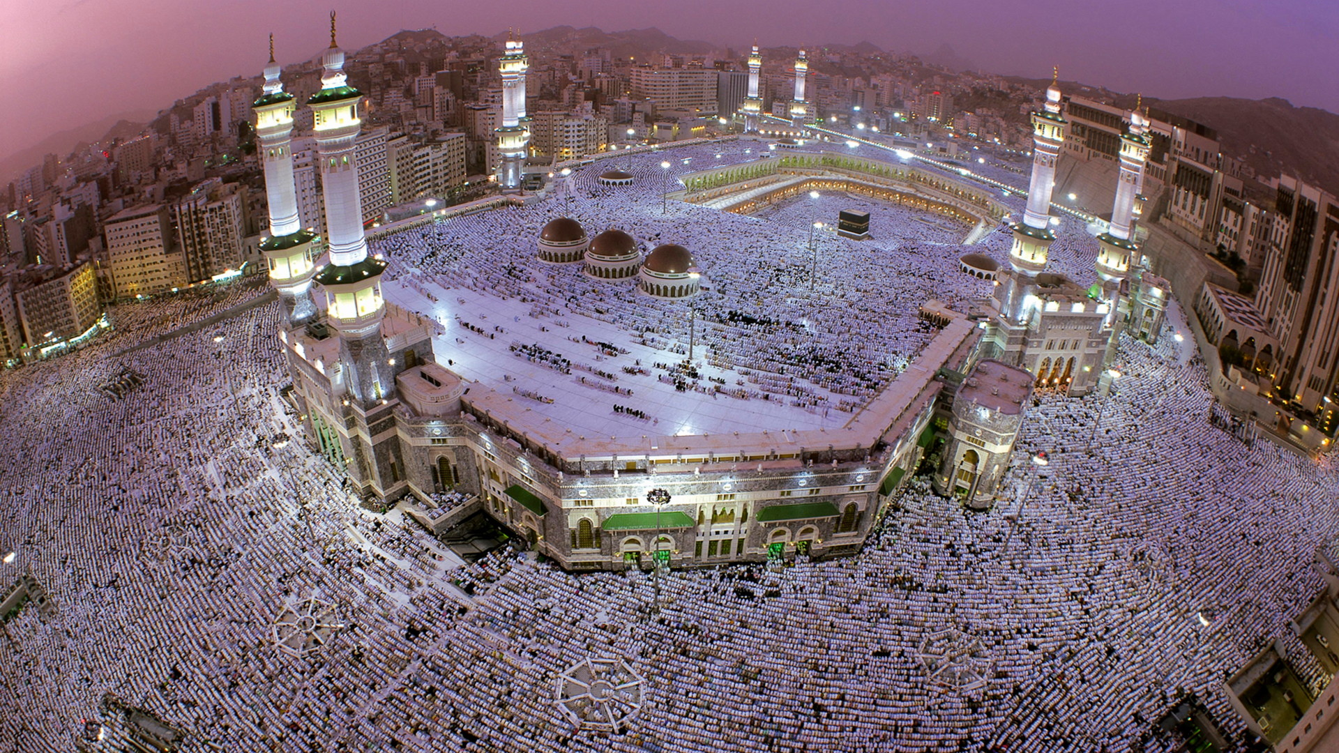 Res: 1920x1080, Wallpaper masjid al-haram kaaba mosque aerial view mecca