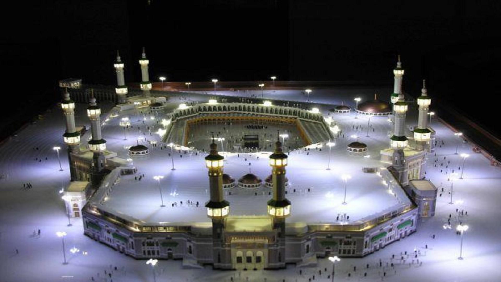 Res: 1920x1080, nice-makkah-night-look-wallpapers-free-hd-downloaded