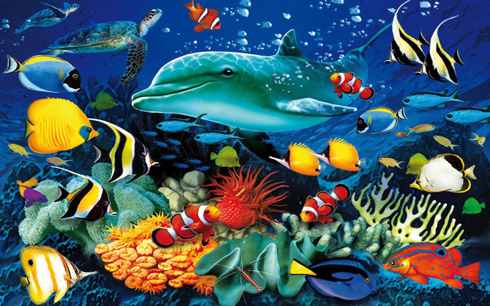 Res: 1920x1200, Ocean Underwater World Ma.