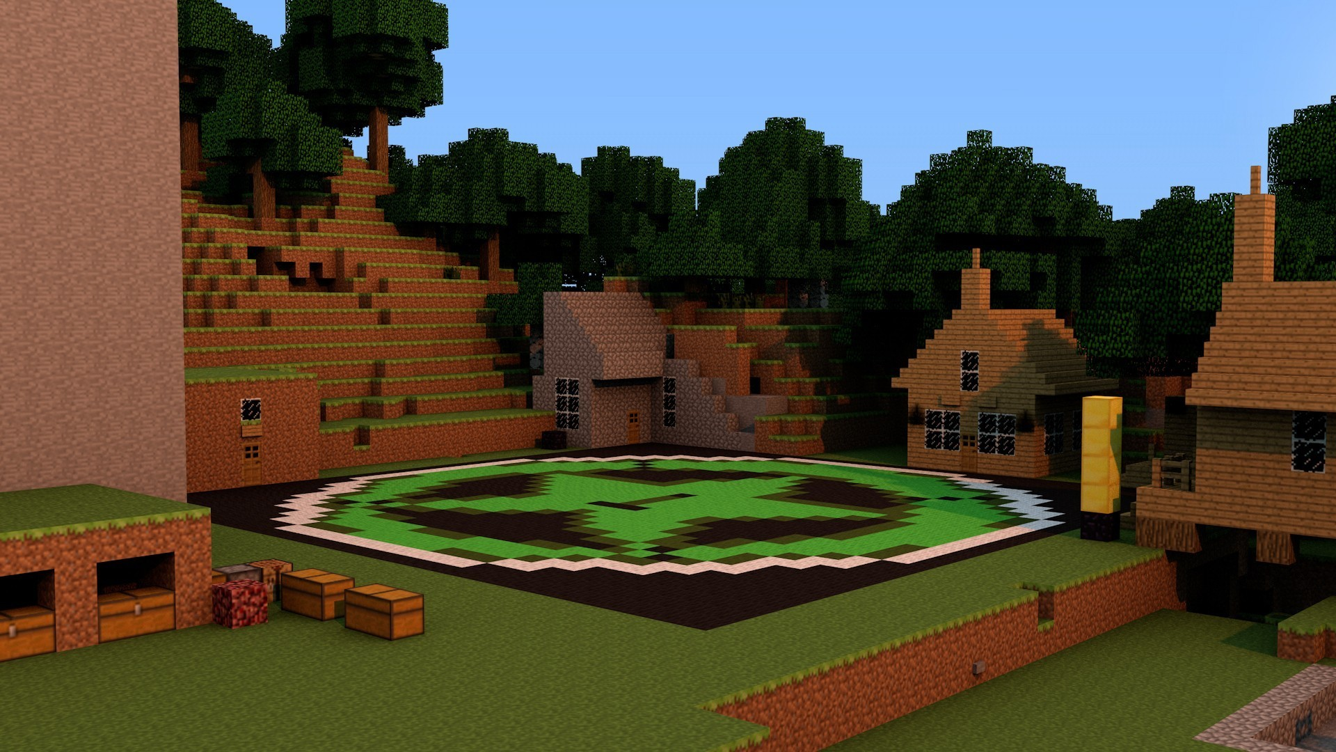 Res: 1920x1080, Minecraft rooster teeth achievement hunter city wallpaper