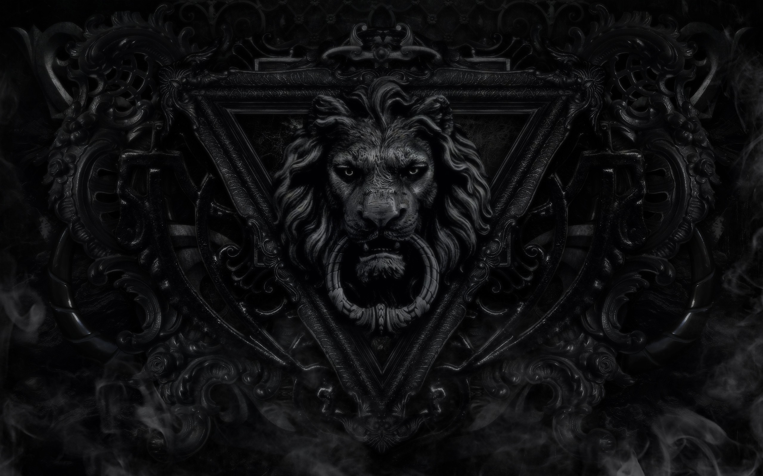Res: 2560x1600, Lion Black And White Wallpaper High Definition