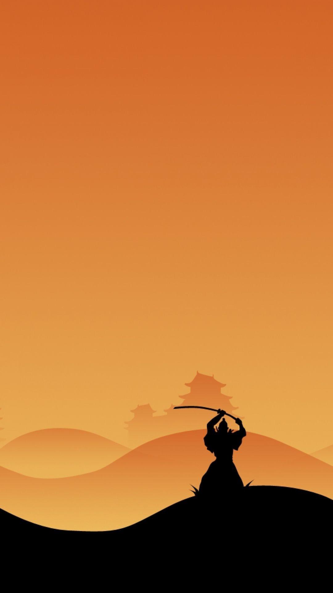 Res: 1080x1920,  Wallpaper samurai, night, silhouette