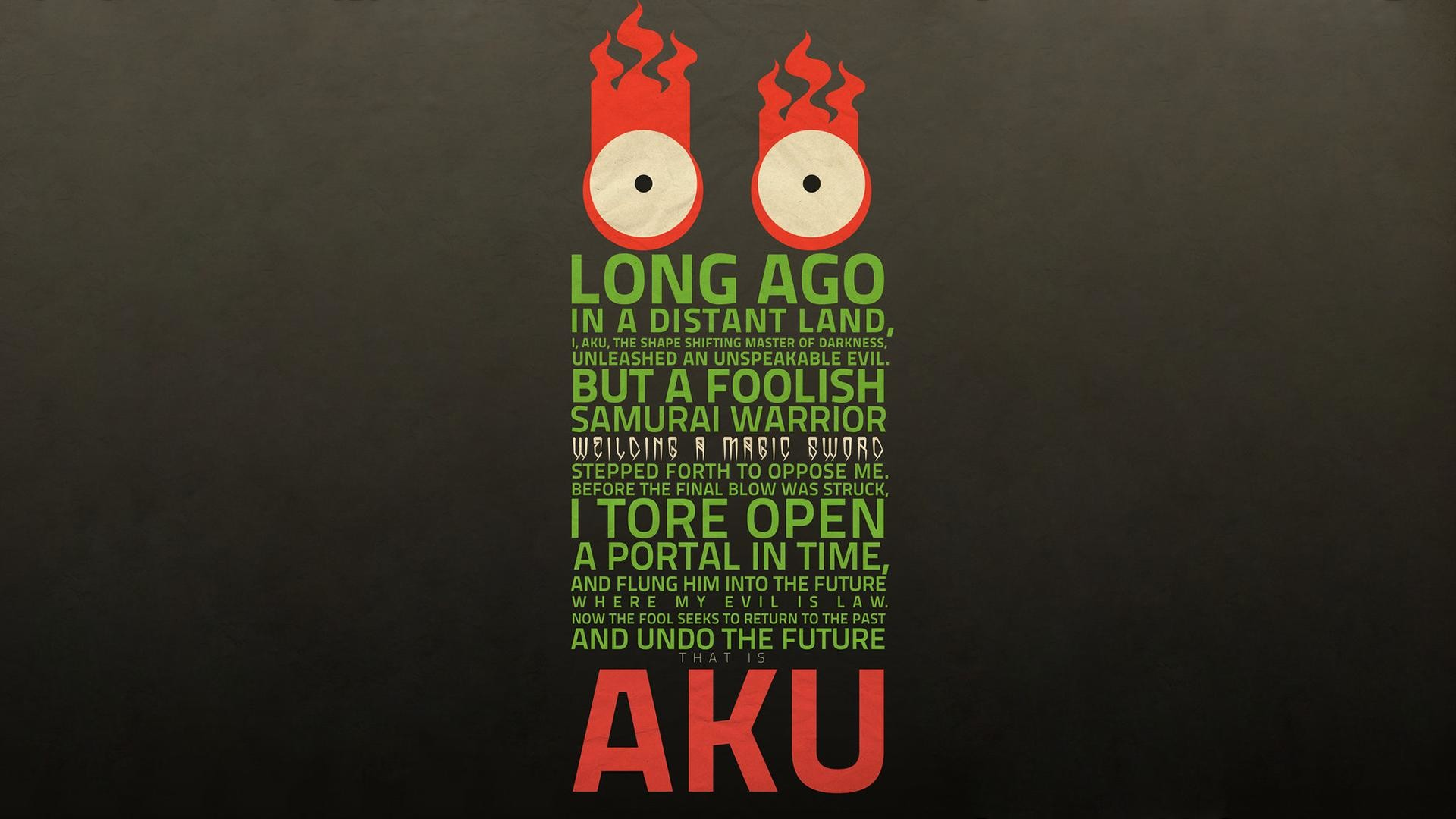 Res: 1920x1080, LONG AGO IN A DISTANT LAND, I, AKU, THE SHAPE SHIFTING MASTER OF