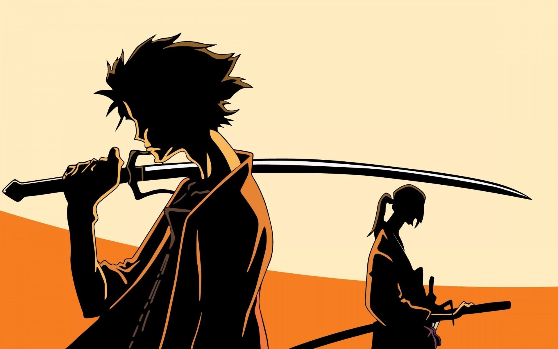 Res: 1920x1200, Samurai Champloo shadows