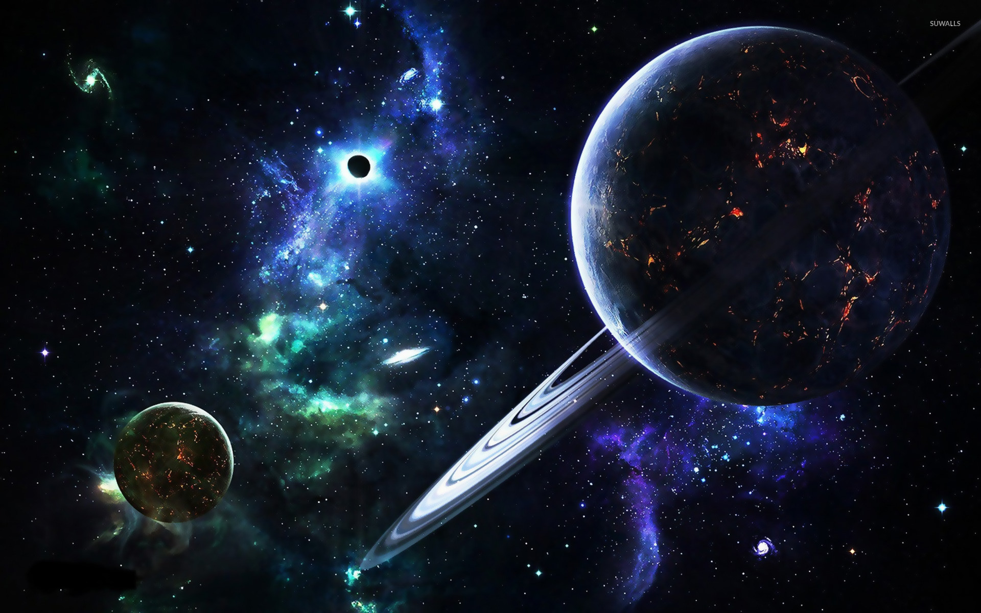 Res: 1920x1200, Planets and galaxies wallpaper