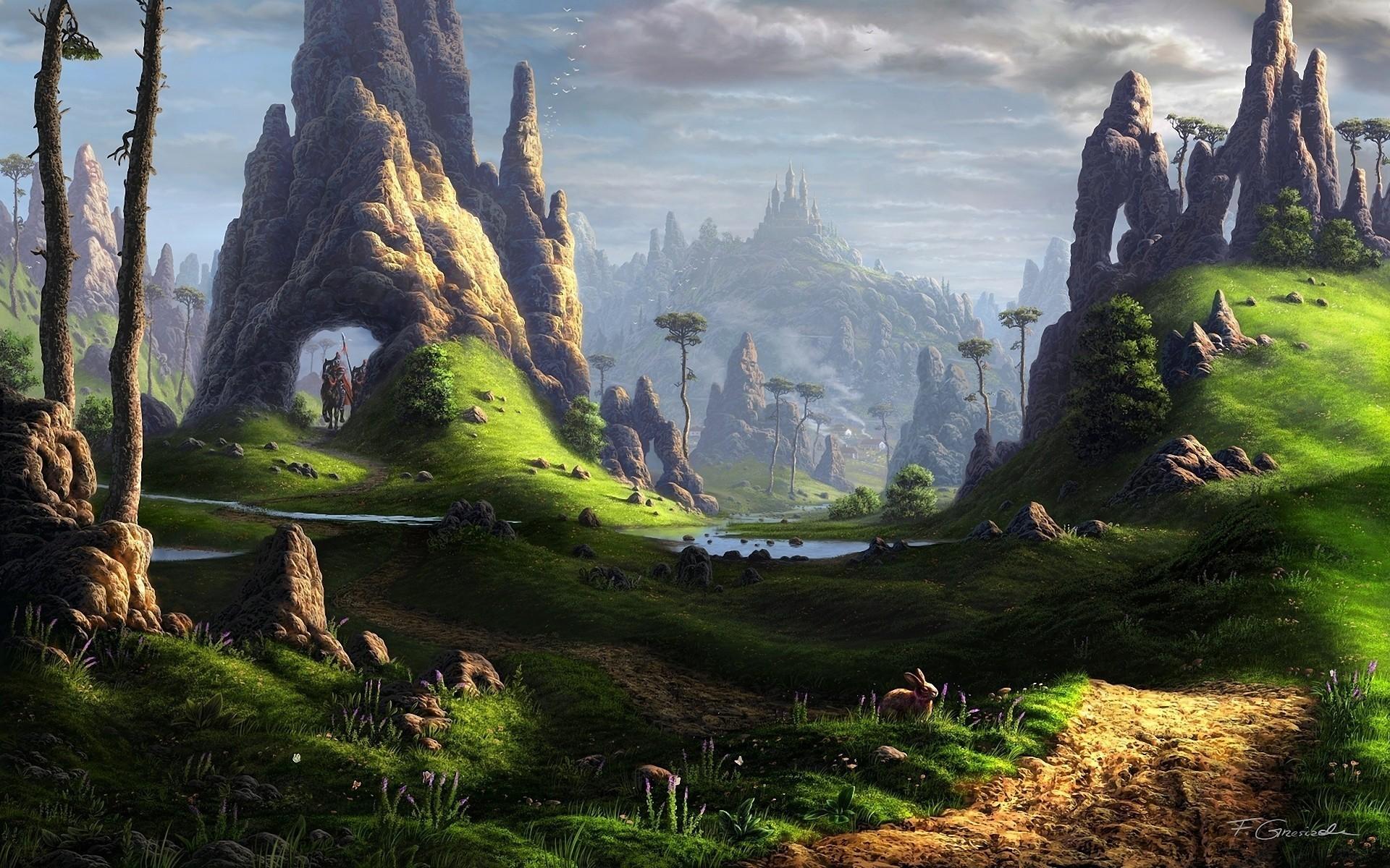 Res: 1920x1200, 2013 Fantasy 039529 wallpaper, grassland, nature, alien planet
