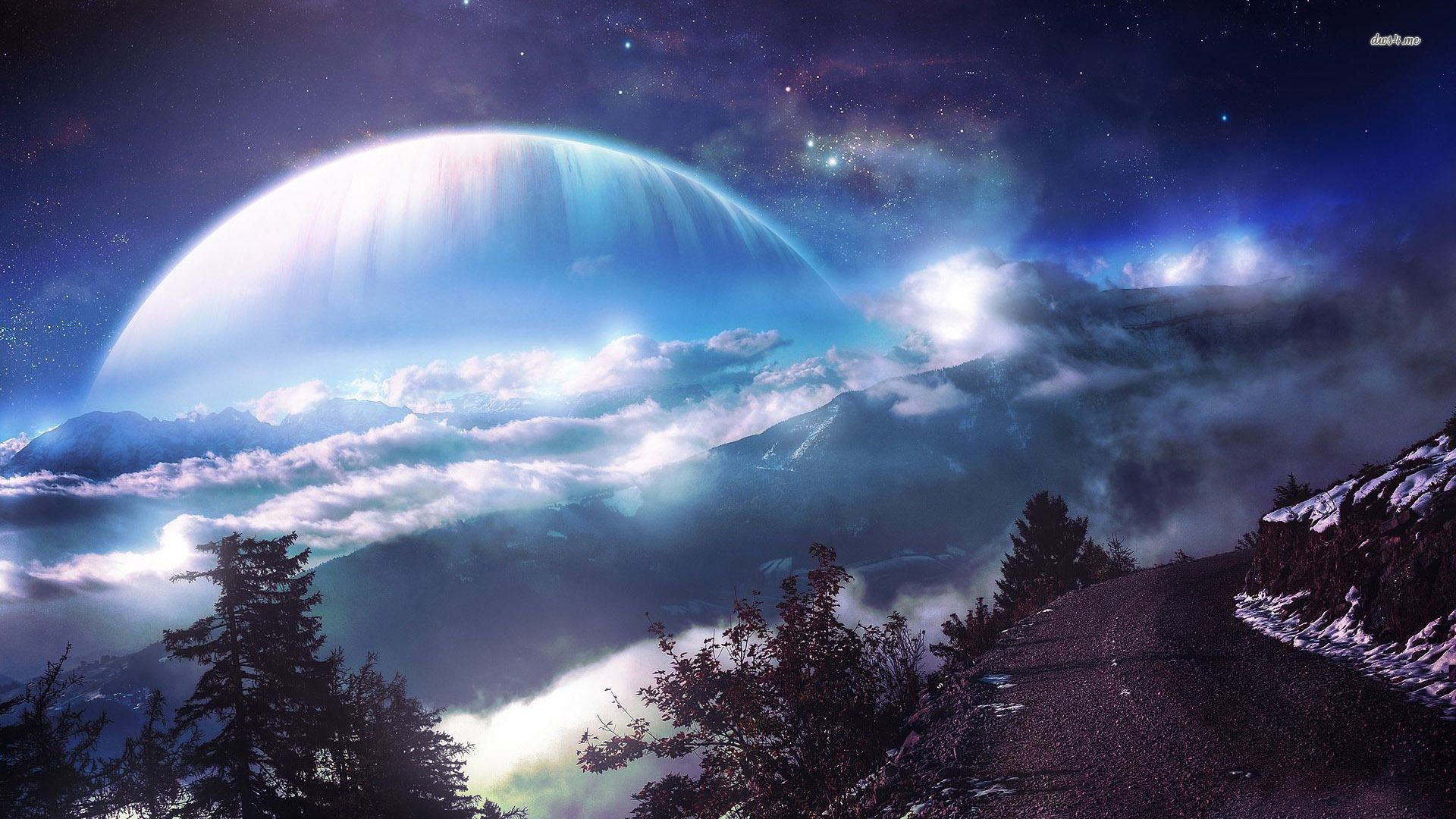Res: 1920x1080, Planet nebula fantasy Wallpaper | Lumia Wallpapers Free HD | Fantasy Space  | Pinterest | Space painting and Wallpaper