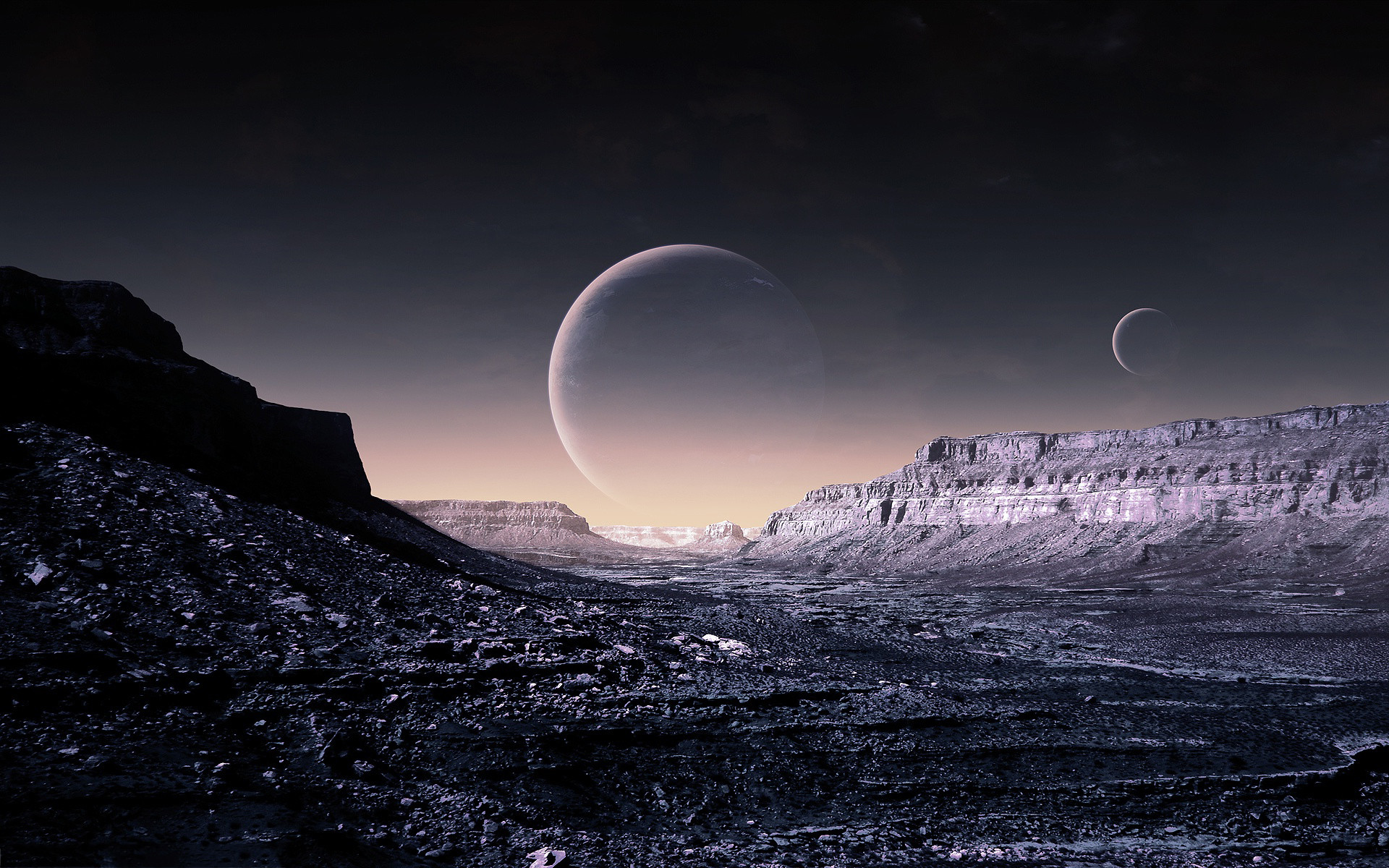 Res: 1920x1200, Fantasy planet surface