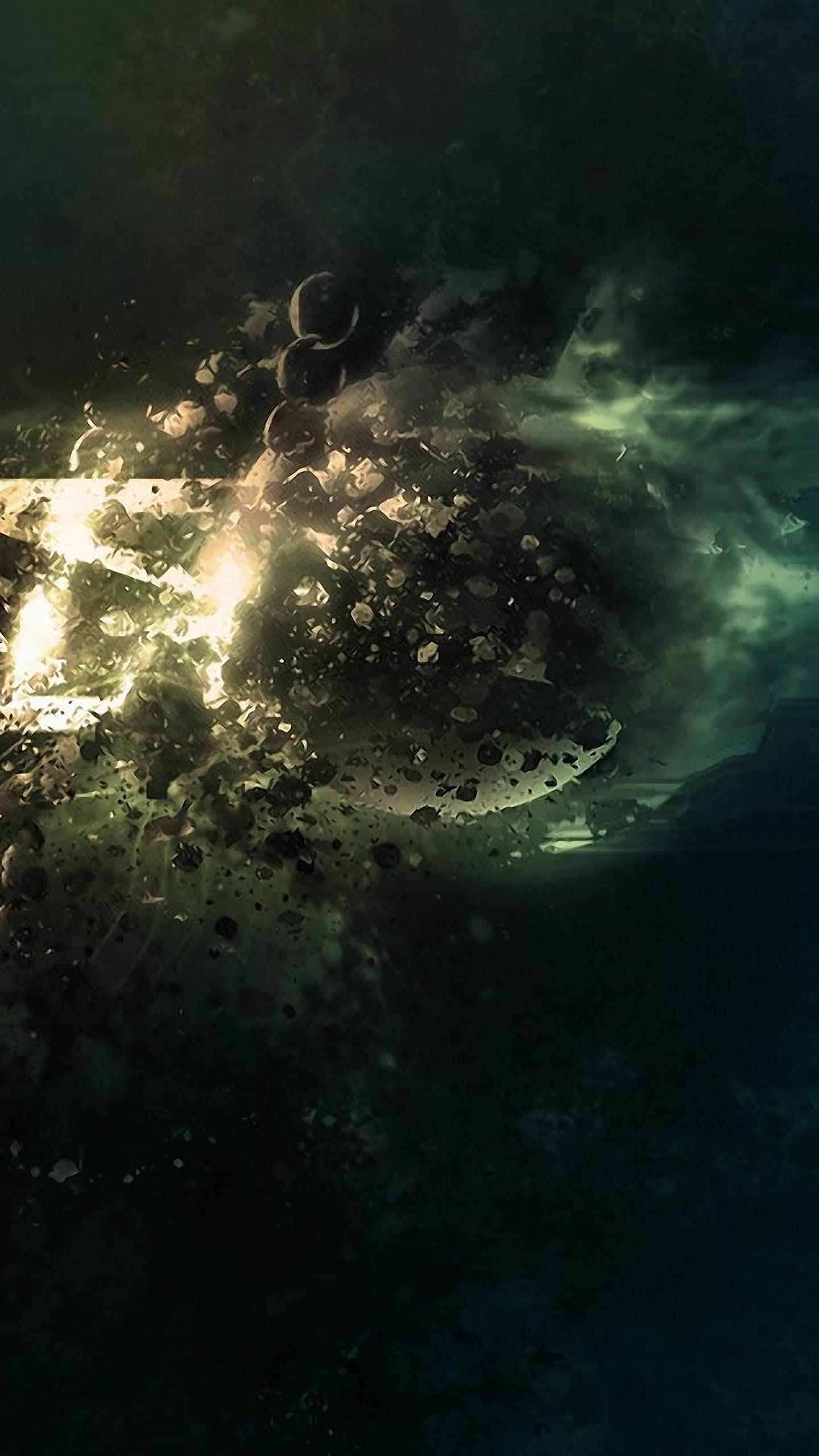 Res: 1440x2560, hd  planet destruction fantasy samsung galaxy note 4 wallpapers