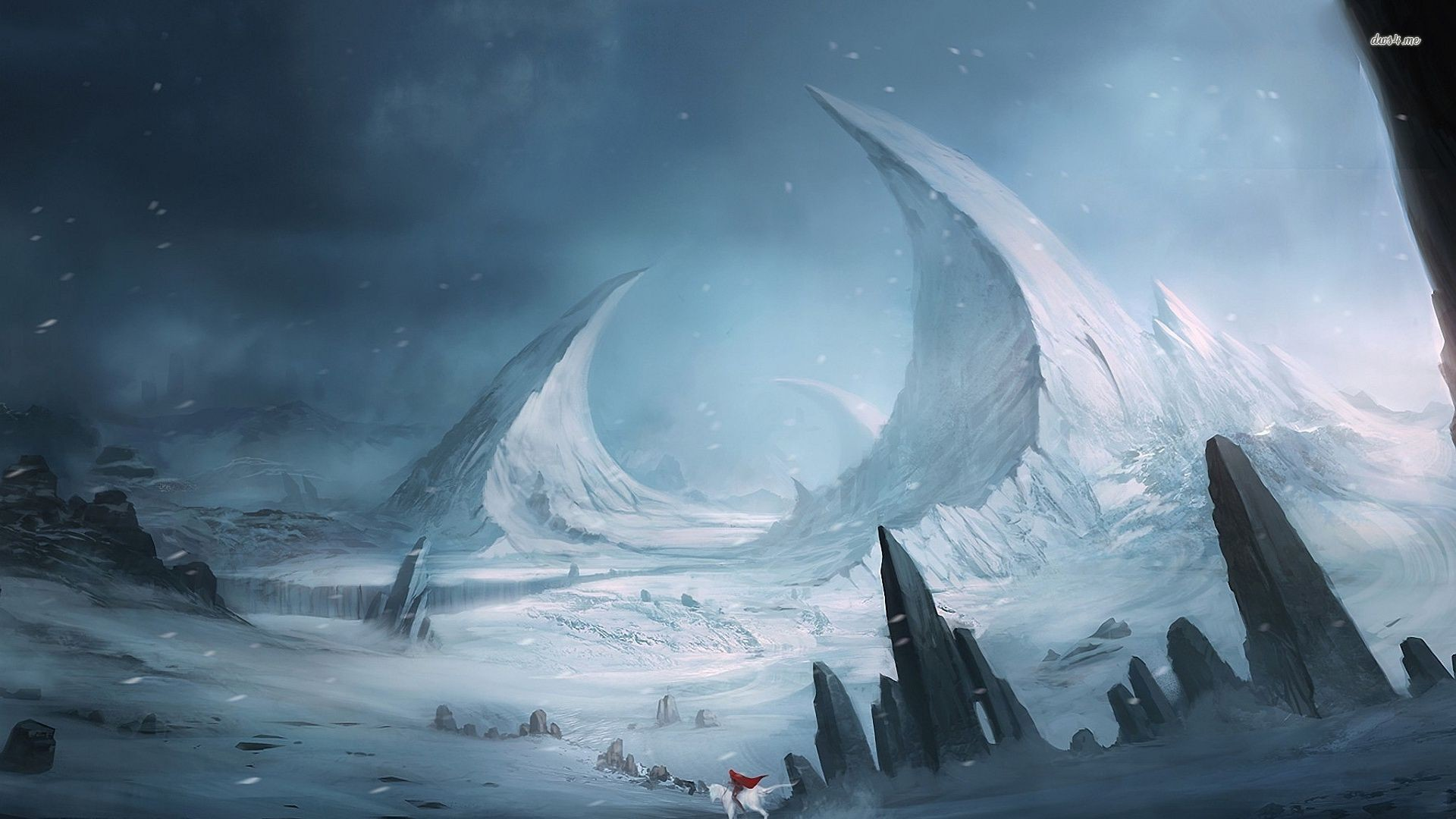Res: 1920x1080, 26904-horseman-on-the-icy-planet--fantasy-wallpaper (1).jpg