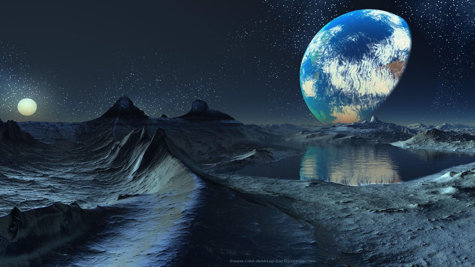 Res: 1920x1080, Space dawn planets moon fantasy art artwork wallpaper