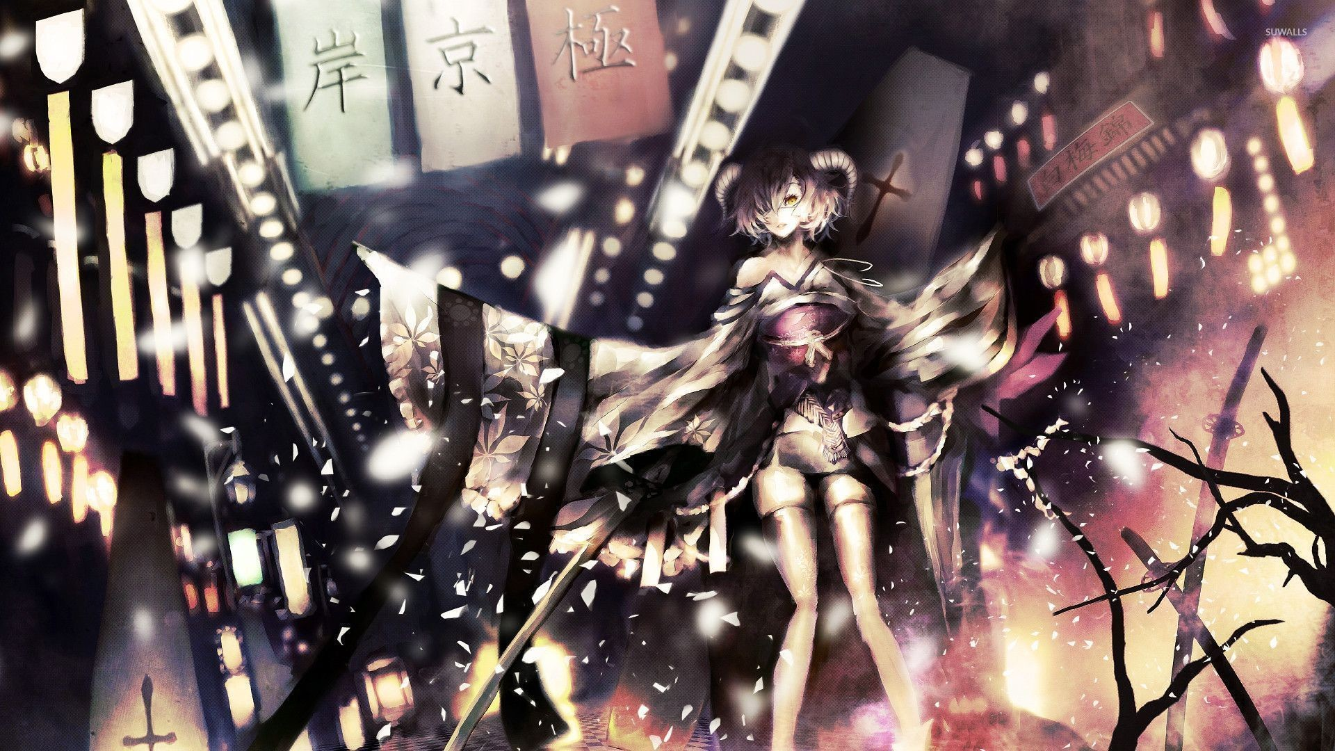 Res: 1920x1080, Demon girl in the city wallpaper