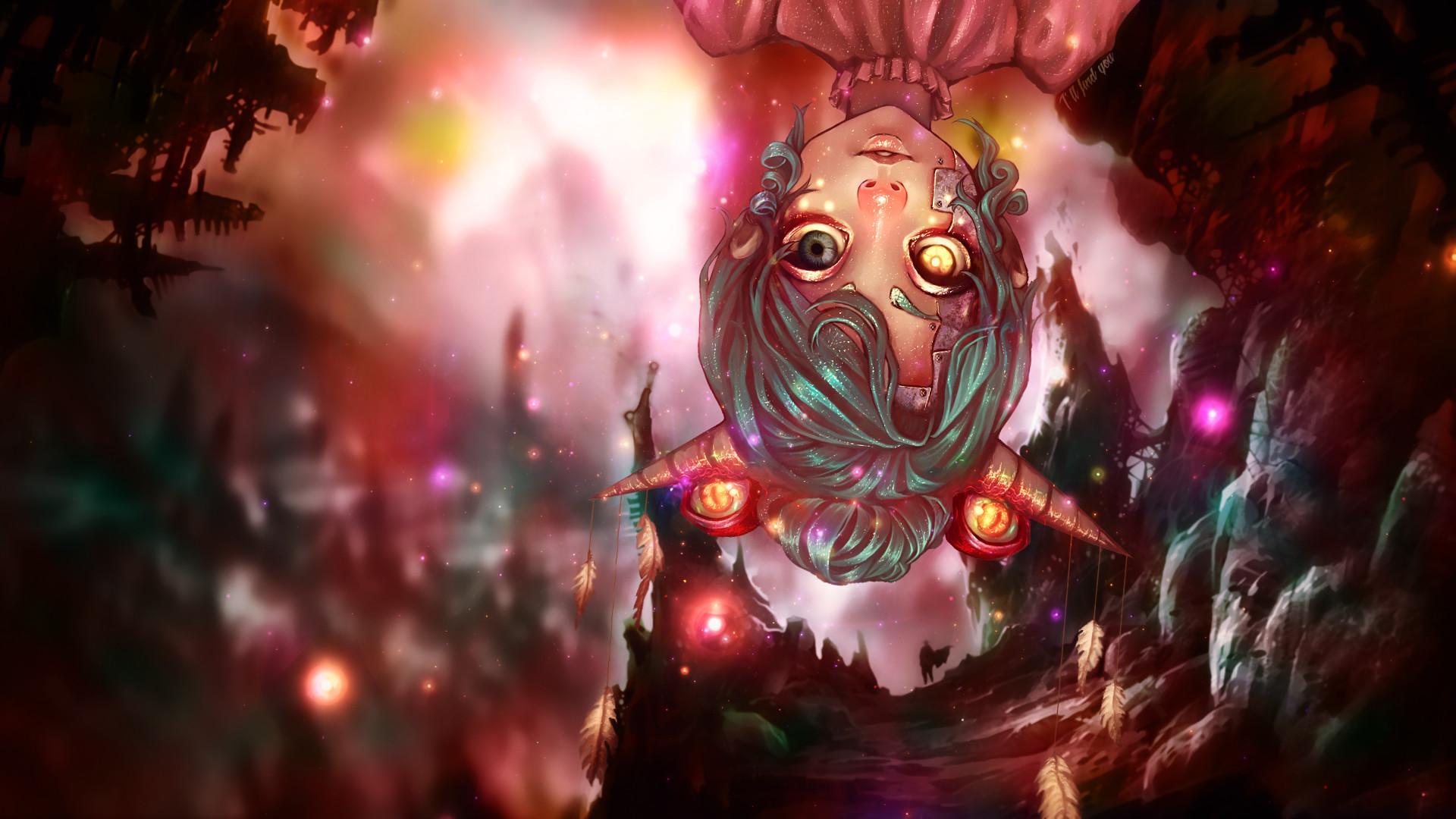 Res: 1920x1080, ... Eyed Demon Horn Anime Girl Wallpaper -  by IAMFX
