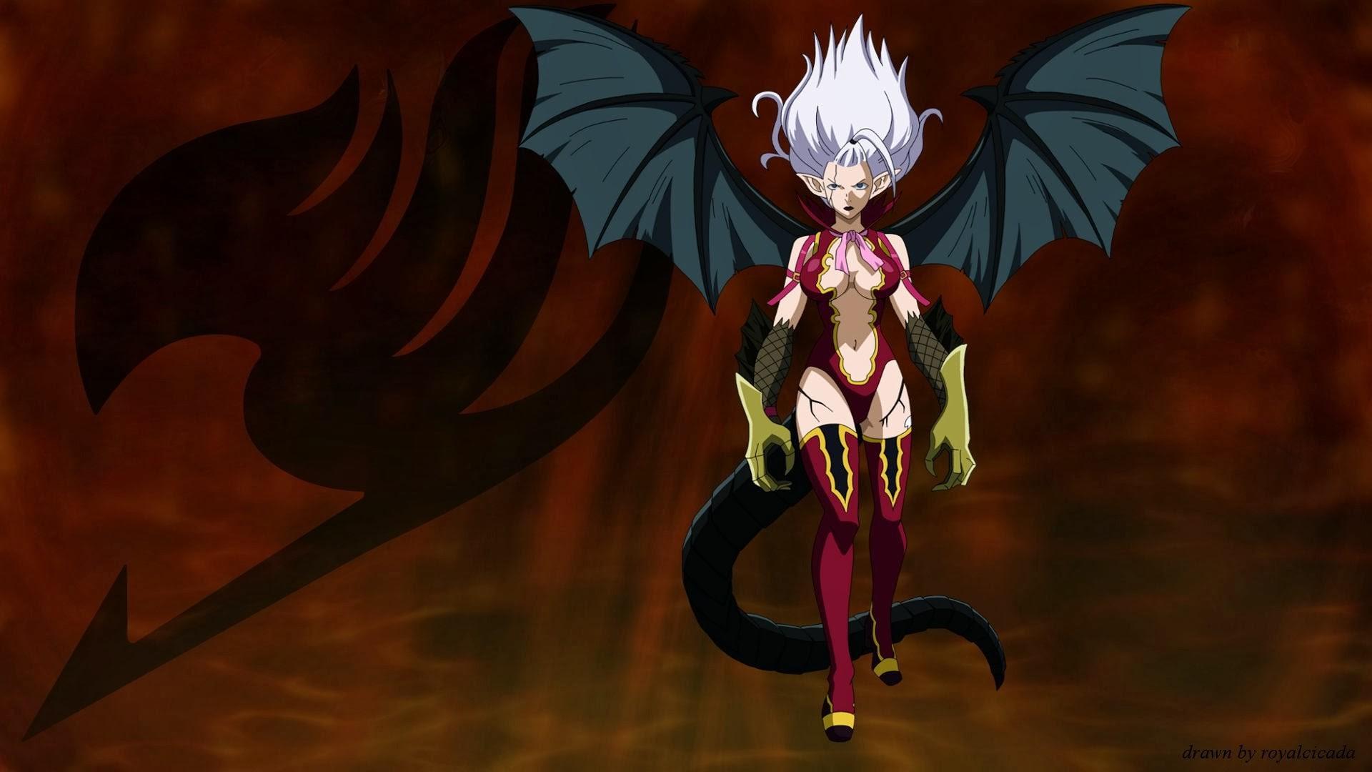 Res: 1920x1080, mirajane strauss satan soul wallpaper hd fairy tail anime demon girl wings   a716.