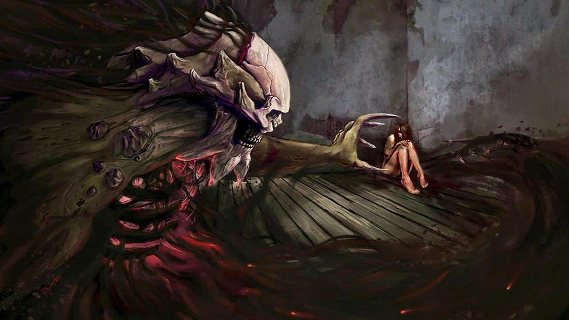 Res: 1920x1080, Art Jennifer Gelinas Black Fantasy Wings Girl Demon Gothic Dark .