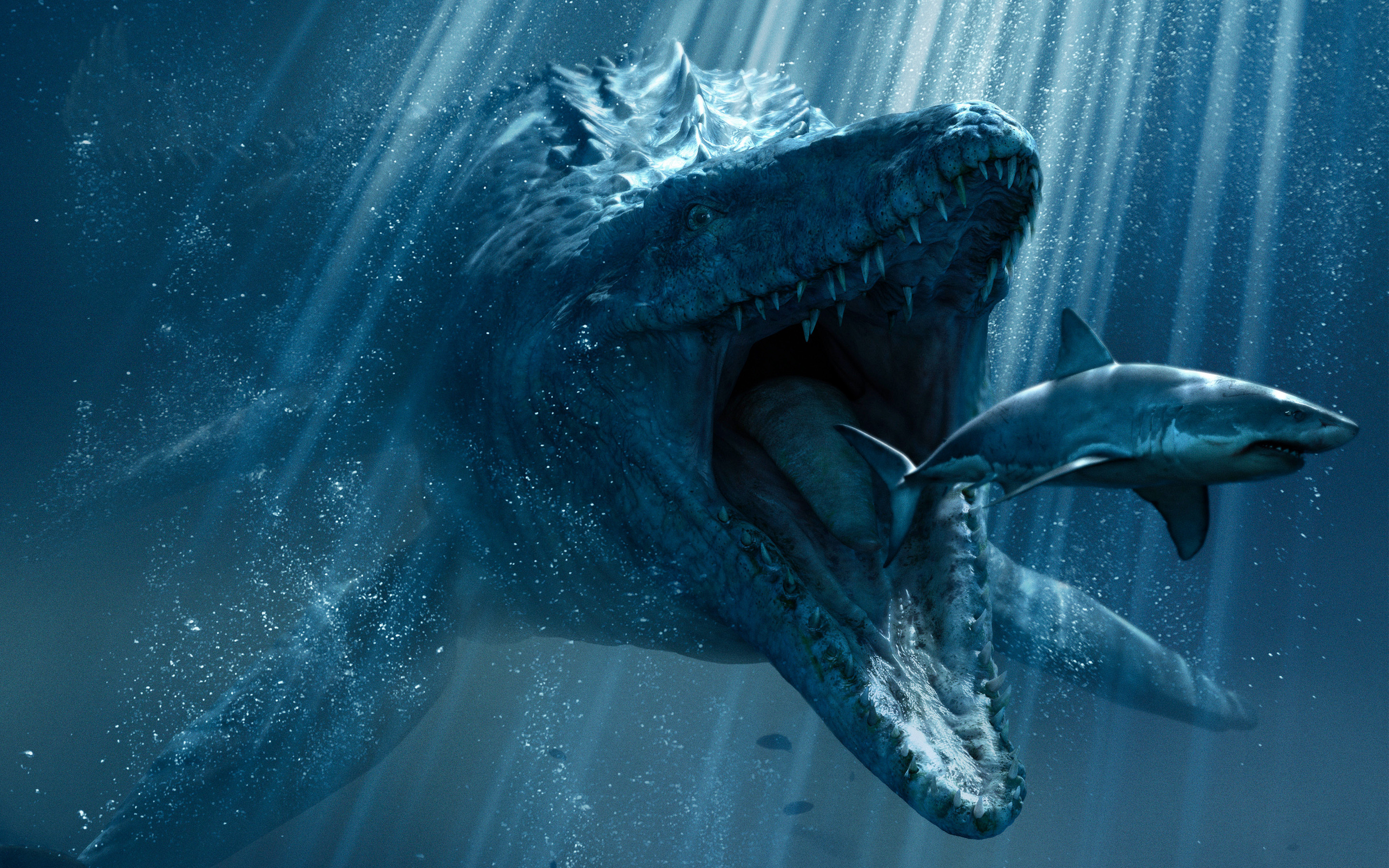 Res: 2880x1800, Jurassic World Underwater Wallpaper