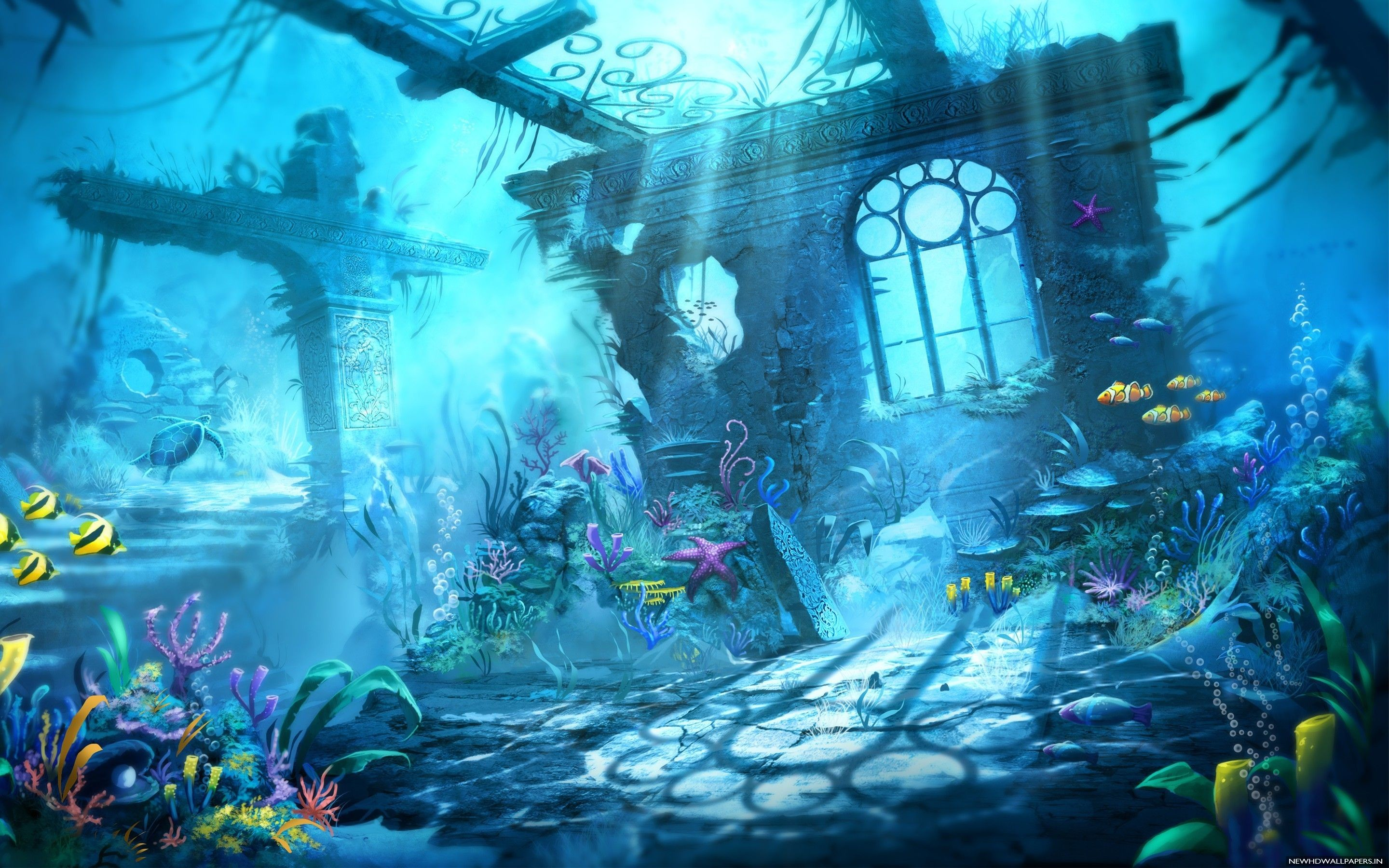 Res: 2880x1800, Fantasy Underwater Wallpapers