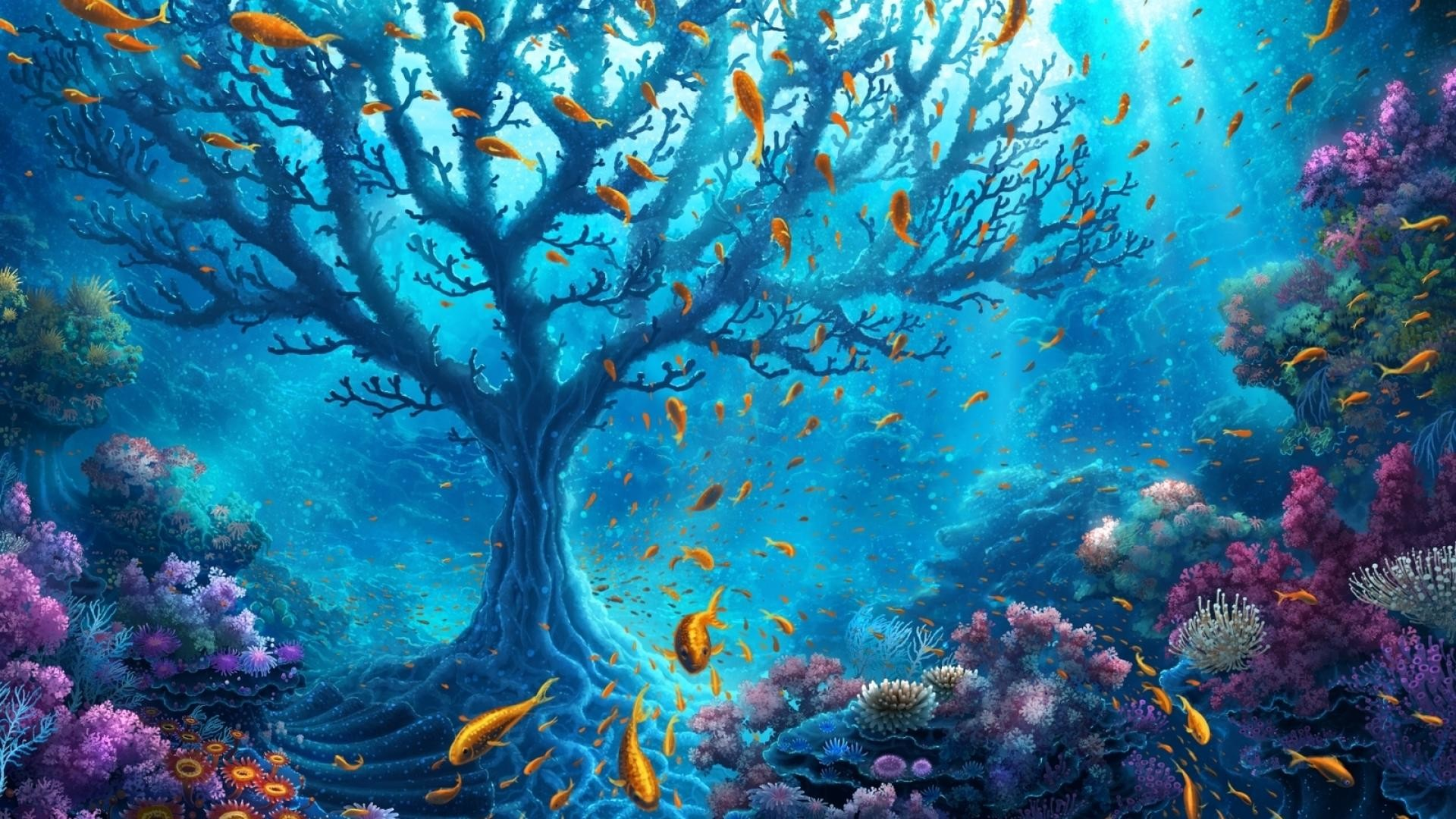 Res: 1920x1080, Fantasy Underwater Wallpapers 7 - 1920 X 1080