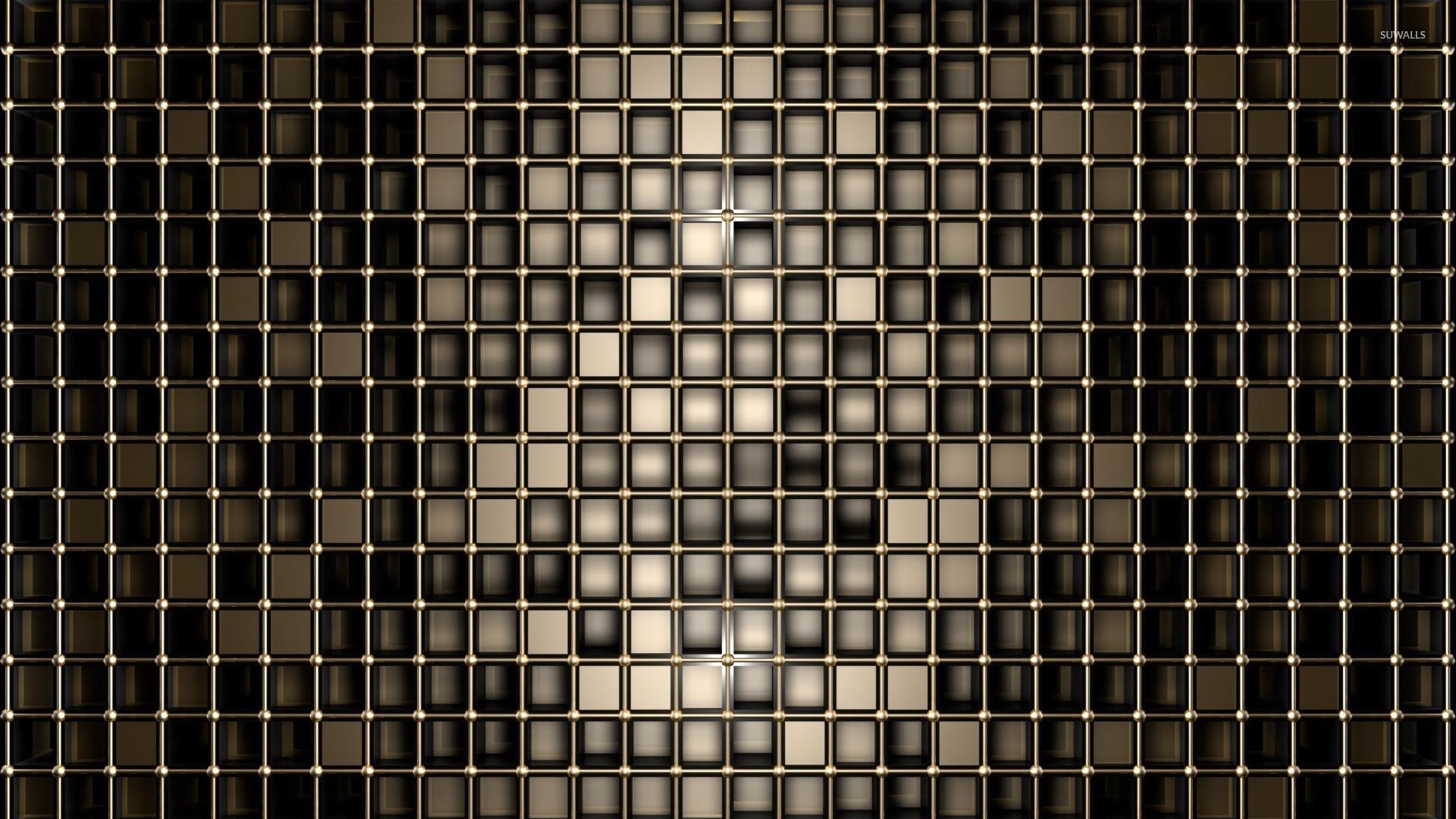 Res: 1920x1080, Bronze squares wallpaper