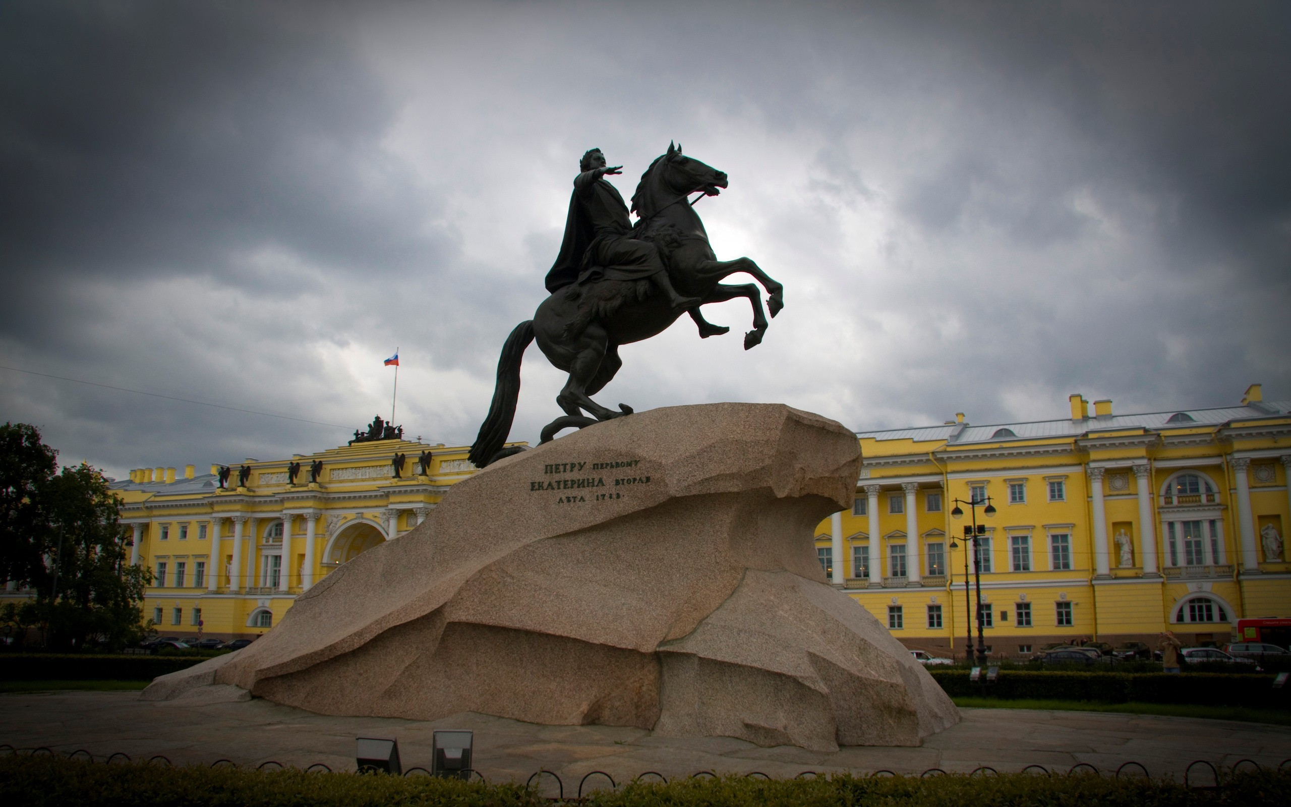 Res: 2560x1600, The Bronze Horseman St. Petersburg