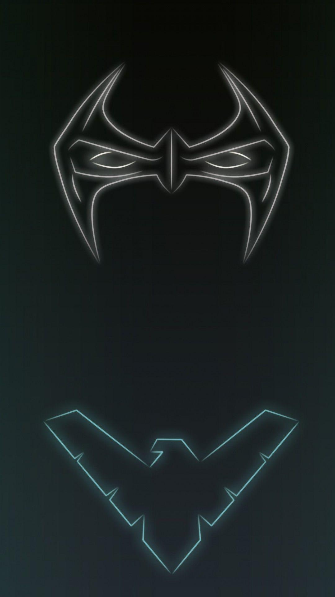 Res: 1080x1920, Download Neon Light Nightwing 1080 x 1920 Wallpapers - 4644301 - neon light  superhero comics dccomics nightwing night wing | mobile9