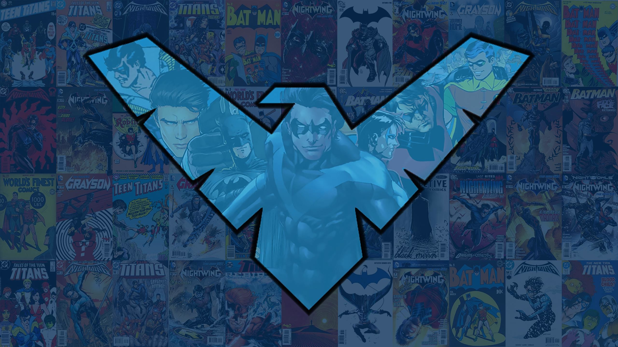 Res: 2560x1440, I made some Nightwing wallpapers for desktops and phones in the style of  the Flash ones I made last week.