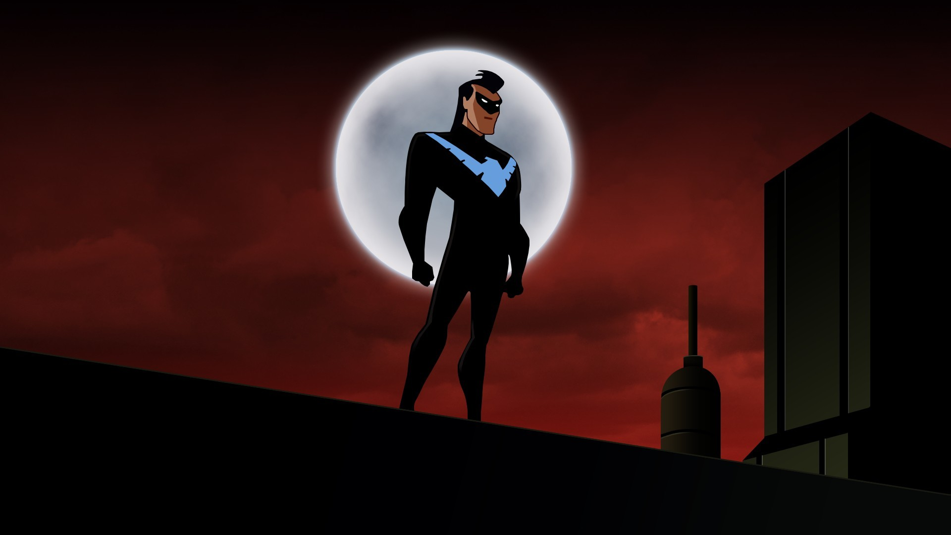 Res: 1920x1080, Dick Grayson, Nightwing, DC Comics, Warner Brothers, Batman: The Animated  Series