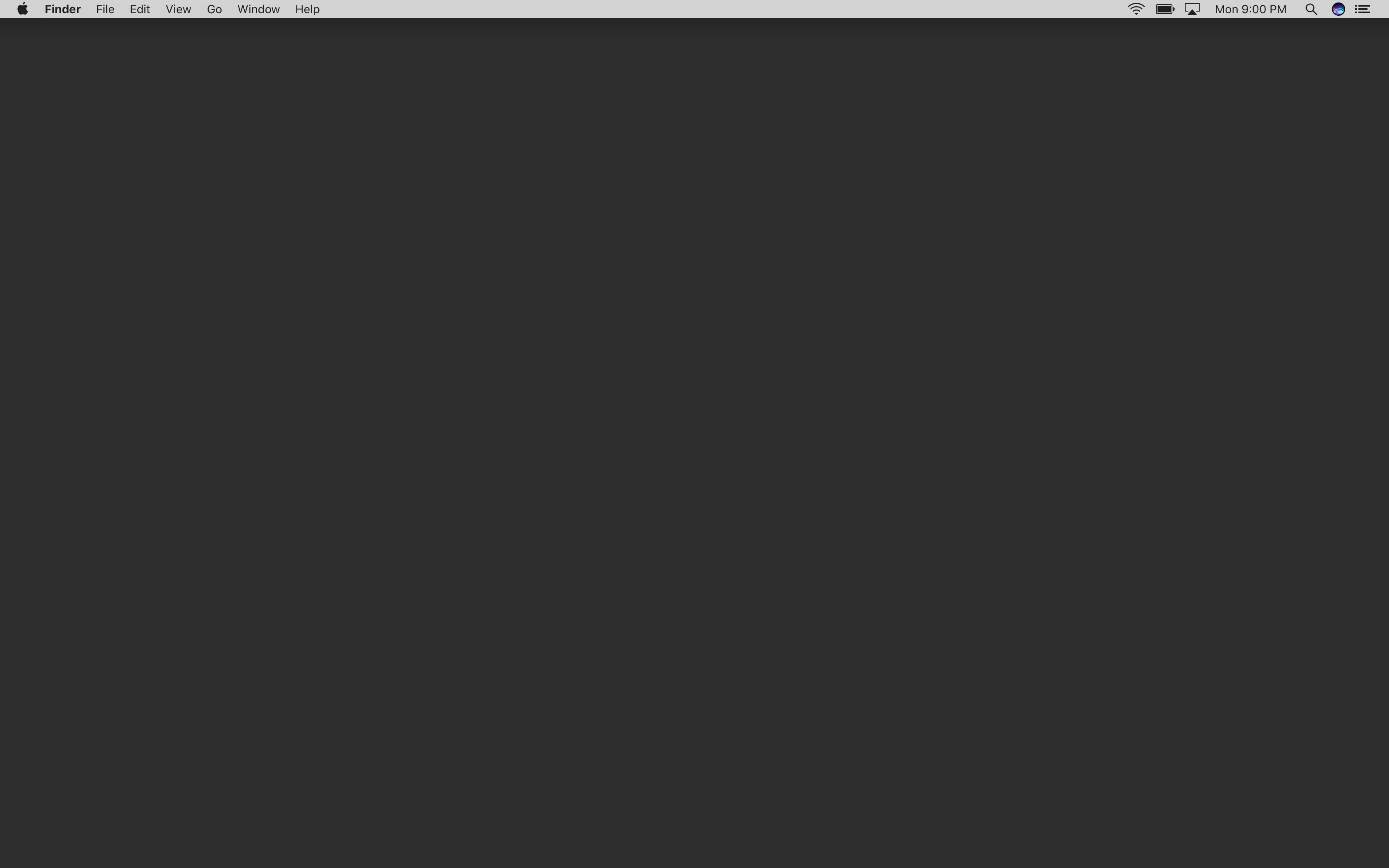 Res: 3360x2100, This is my macOS desktop, with a solid grey wallpaper and a hidden dock.