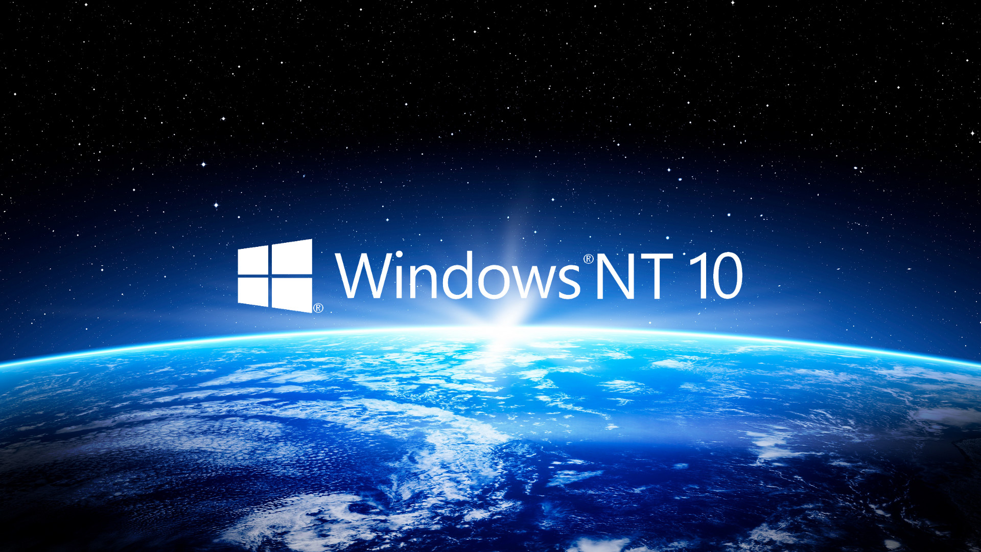 Res: 1920x1080, ... Windows NT 10 Earth View Wallpaper HD by Eric02370